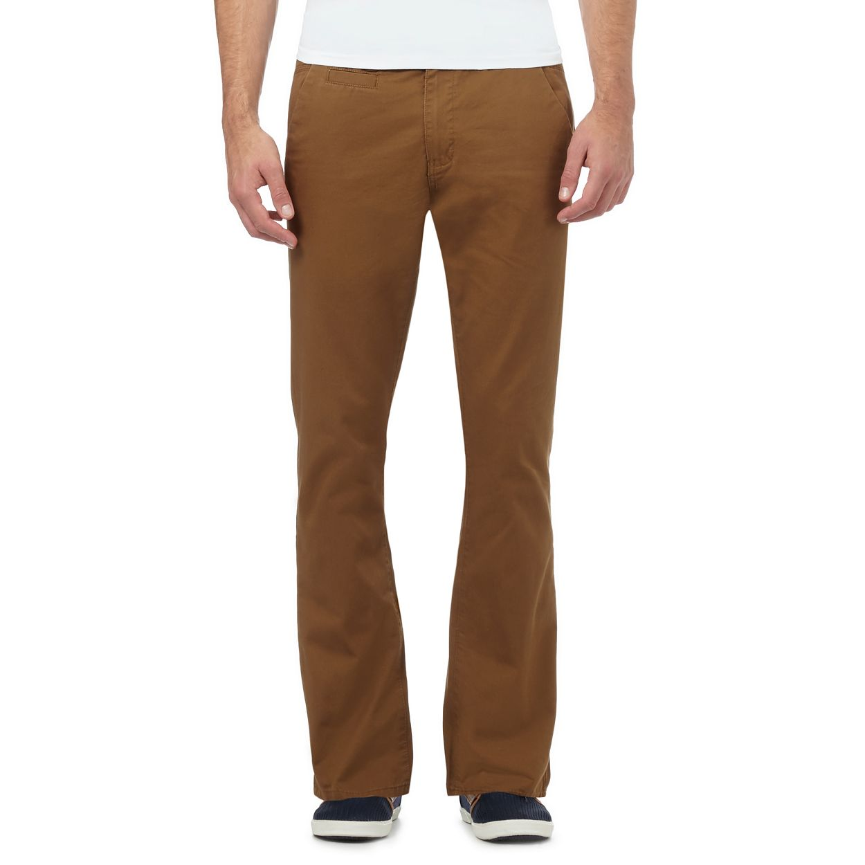 Red Herring Dark Tan Beige slim fit chinos