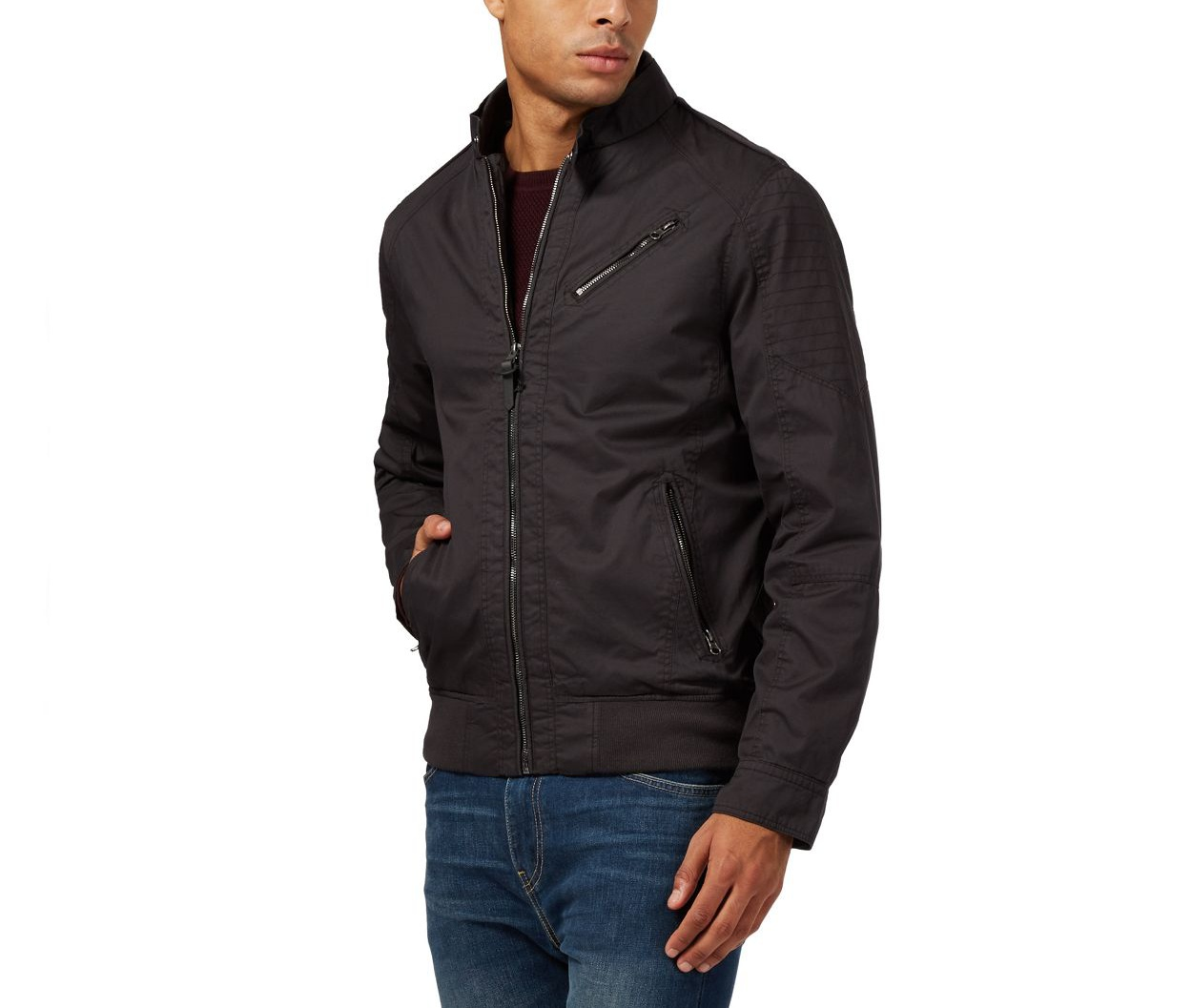 Red Herring Dark Grey Big and tall dark grey harrington jacket