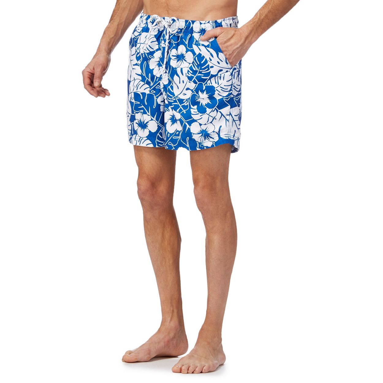 Maine New England Blue floral print swim shorts