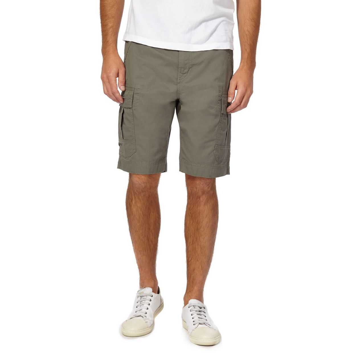 Red Herring Khaki Big and tall khaki cargo shorts