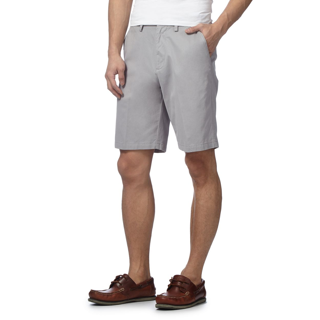 Maine New England Pale Grey Pale grey chino shorts