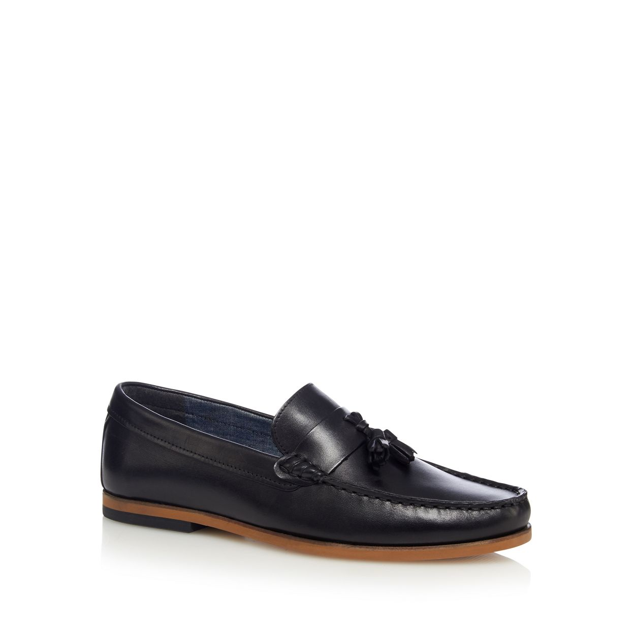 Red Herring Black leather loafers
