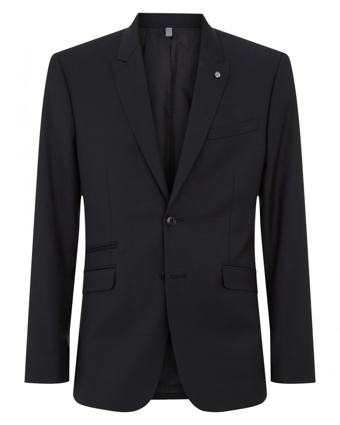 Slim Plain Weave Black Suit Jacket By Austin Reed Thread