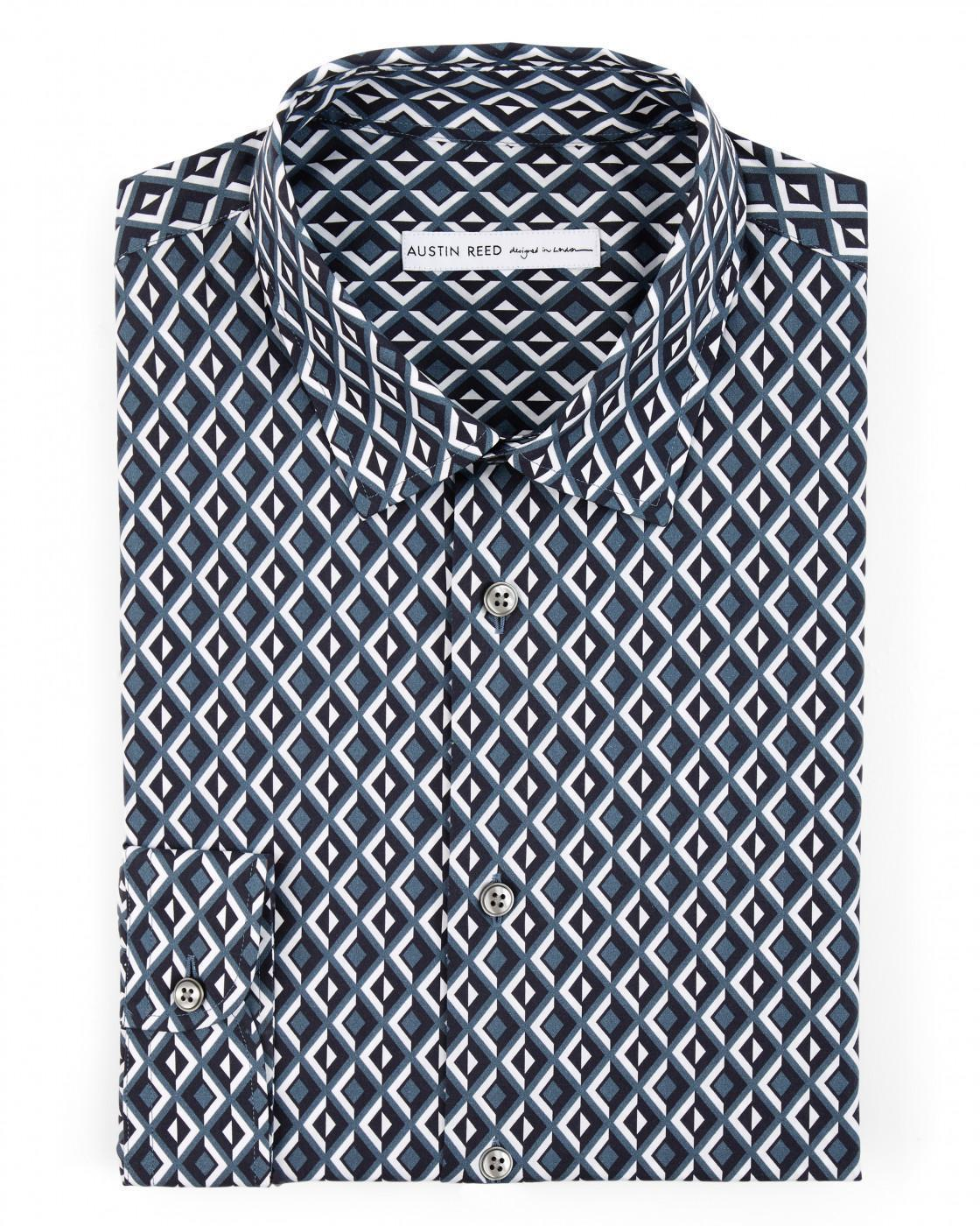 Tailored Stretch Poplin Shirt By Austin Reed Thread Com