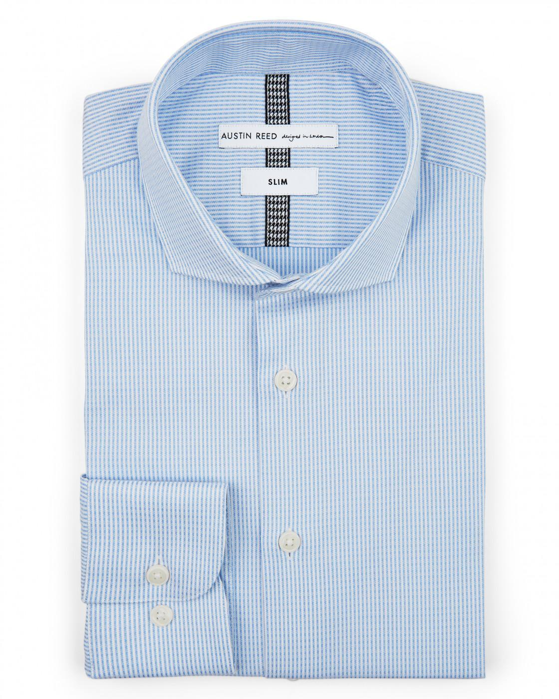 Slim Fine Stripe Shirt By Austin Reed Thread