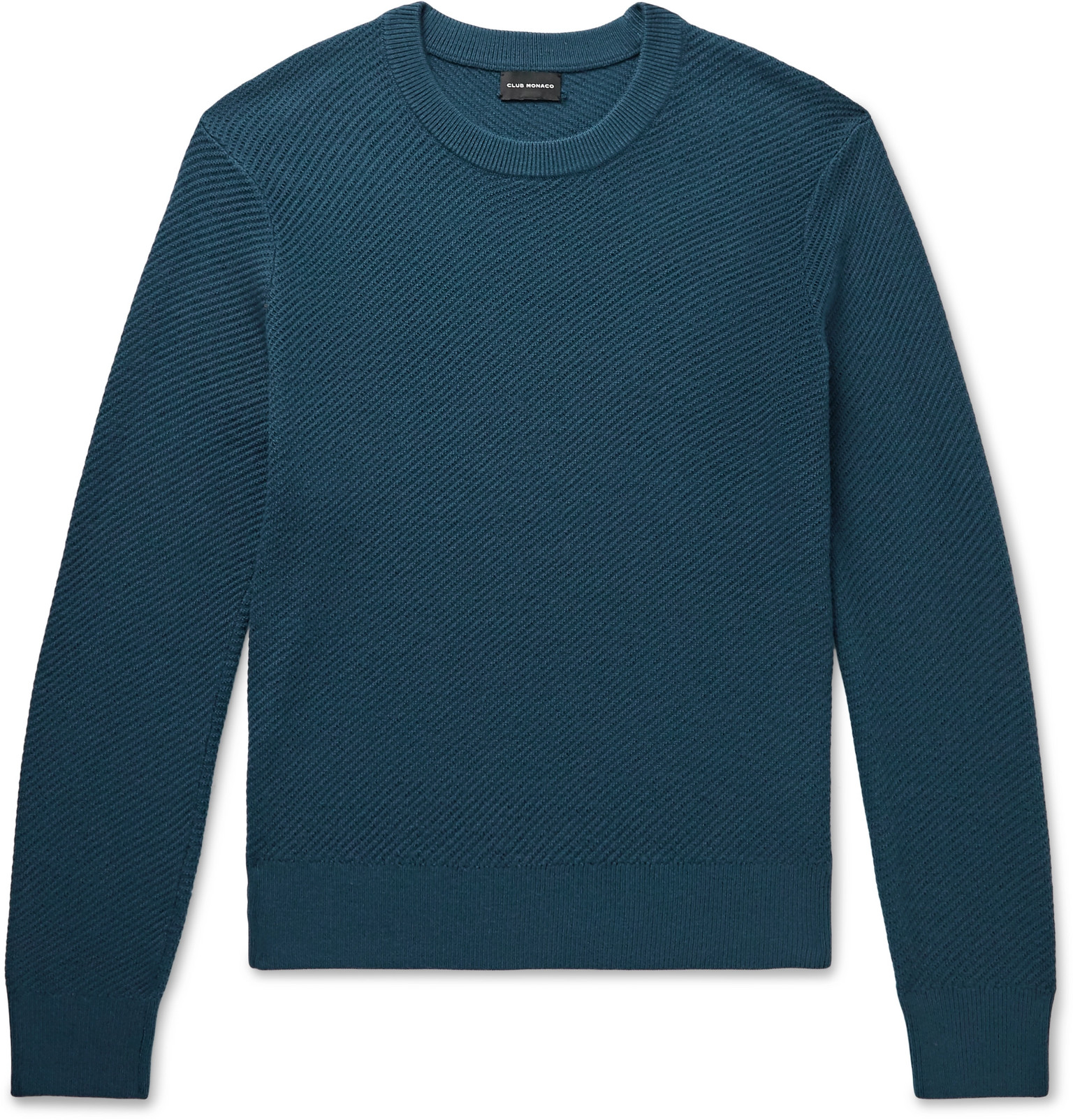 Ribbed Wool Blend Sweater by Club Monaco