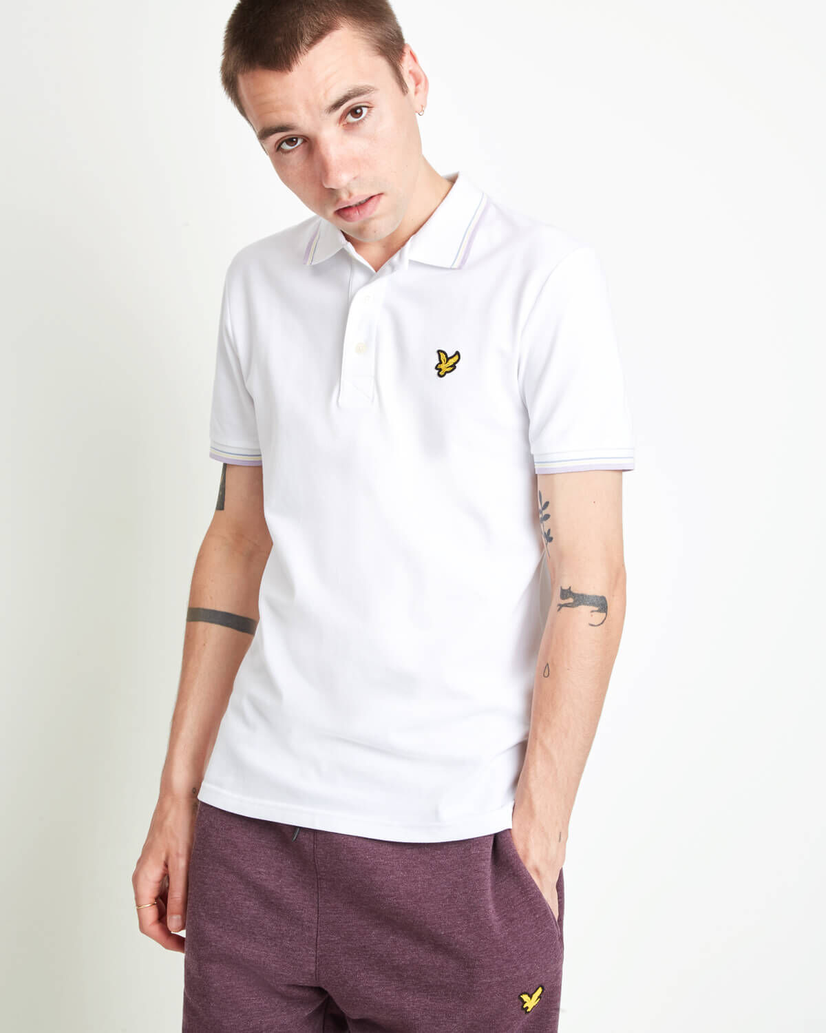 Mens Lyle And Scott Slim Stretch Shirt In White