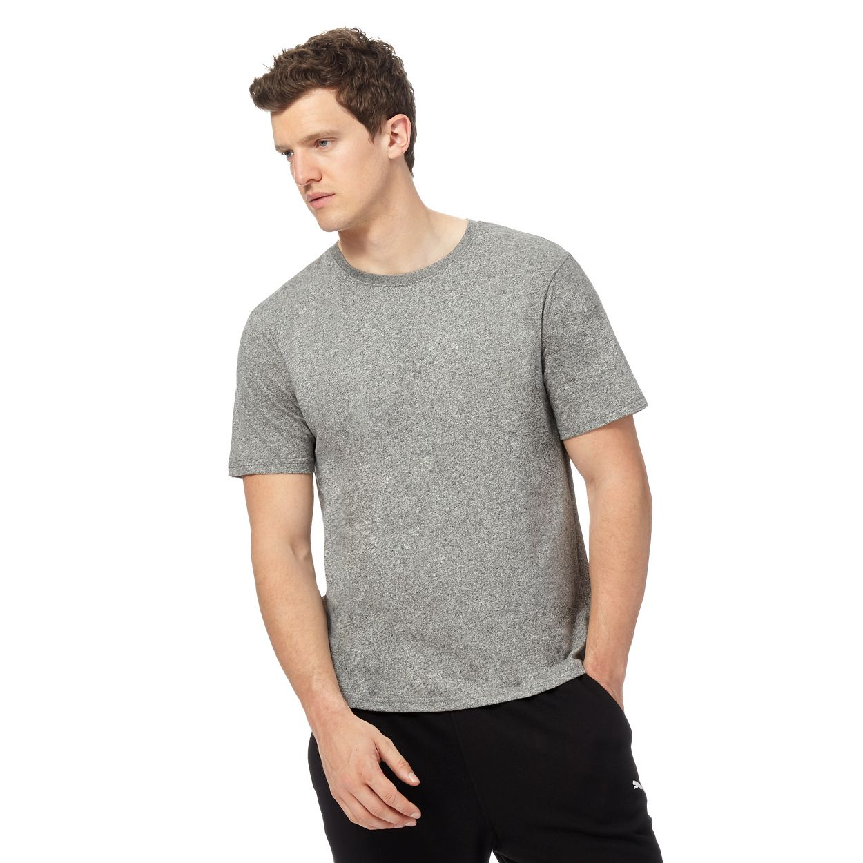 Red Herring Grey grain effect t-shirt