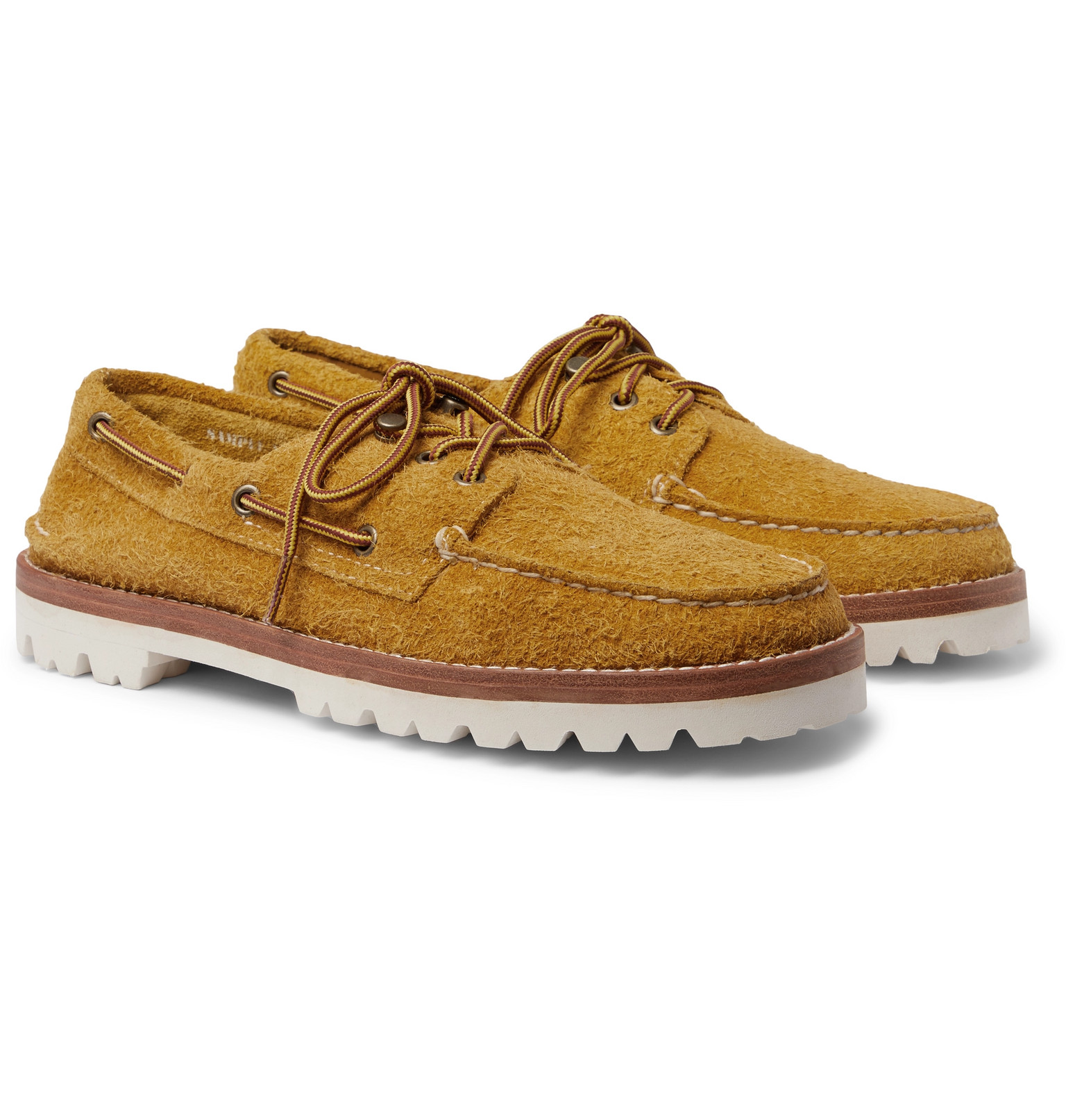 Brushed-Suede Boat Shoes by Sperry