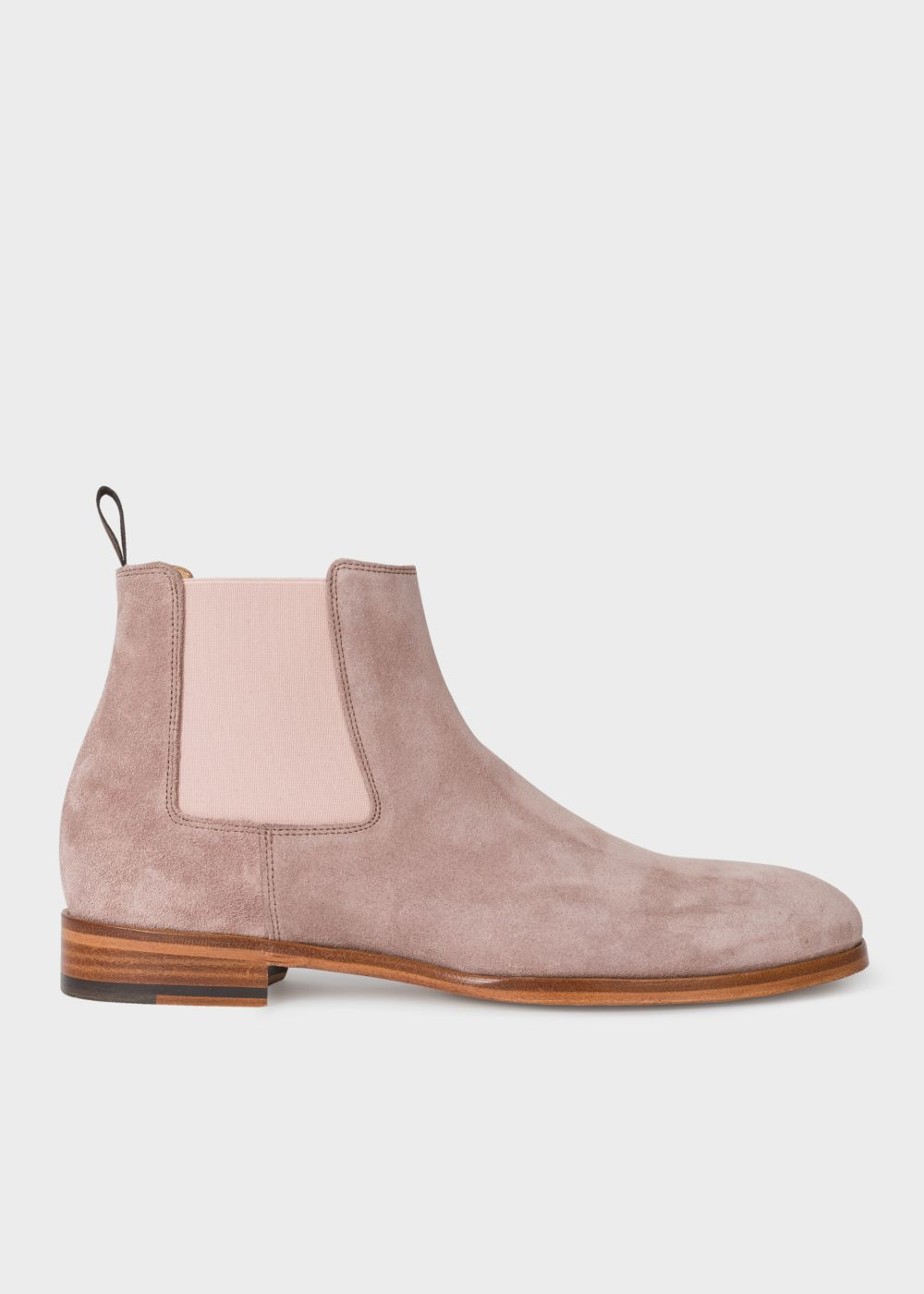 Dusky Pink Suede 'Crown' Chelsea Boots