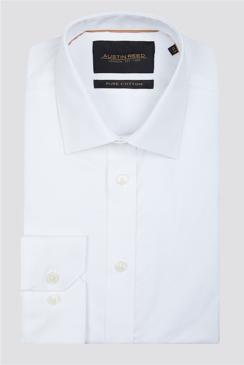 White Twill Shirt By Austin Reed Thread