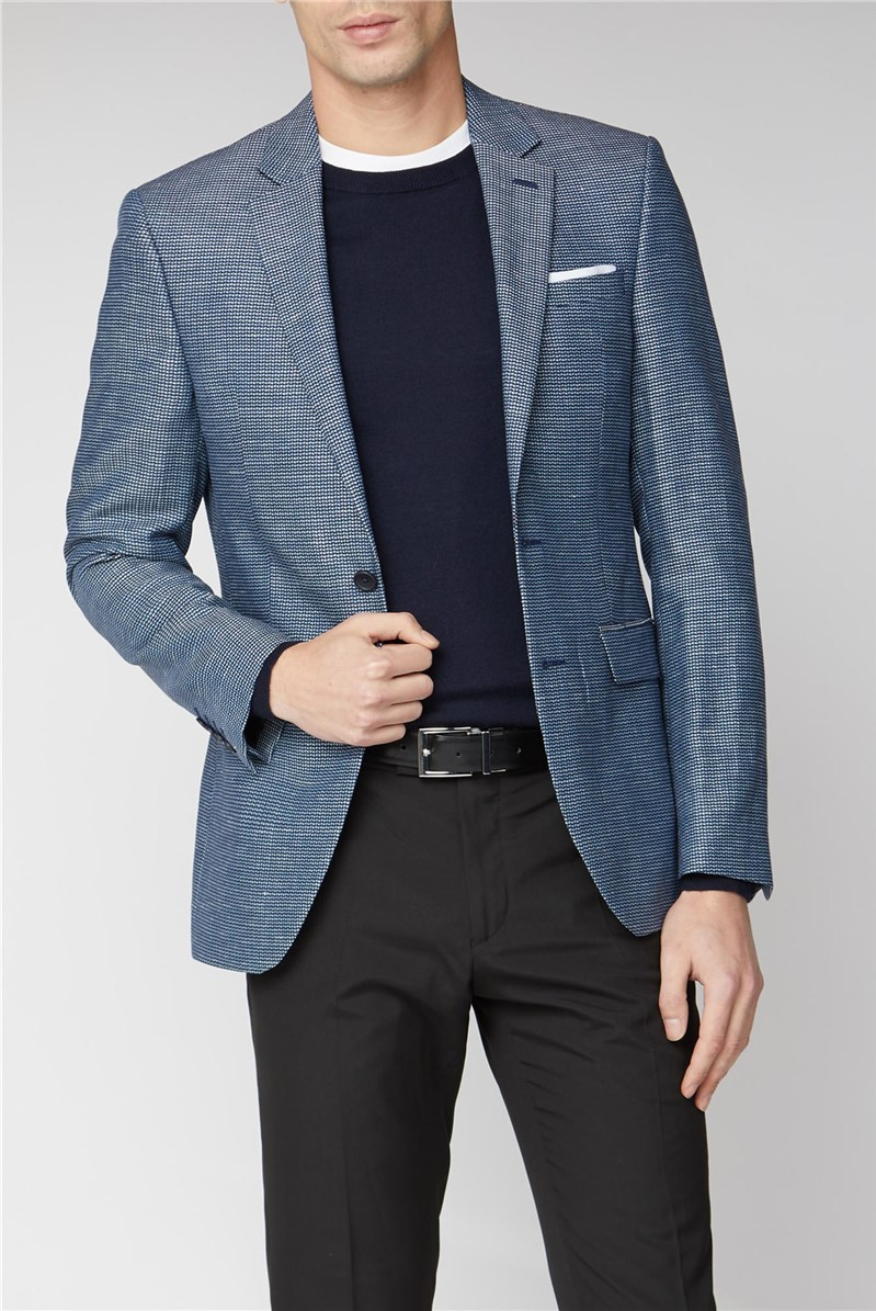 Two Tone Dobby Slim Fit Suit Jacket By Austin Reed Thread