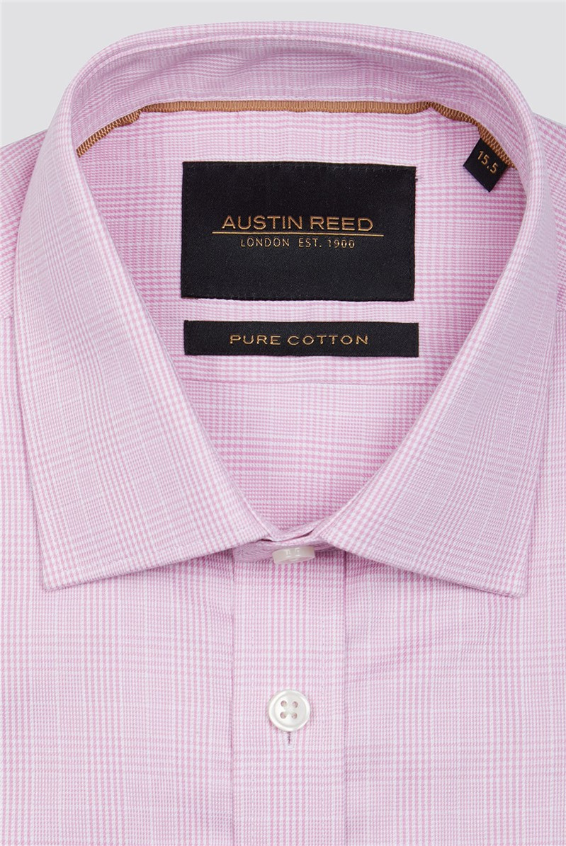 Pink Prince Of Wales Check Shirt By Austin Reed Thread Com