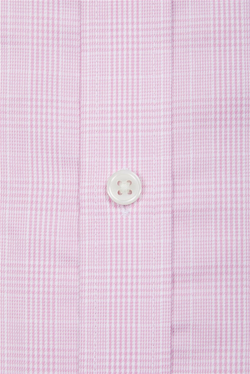 Pink Prince Of Wales Check Shirt By Austin Reed Thread