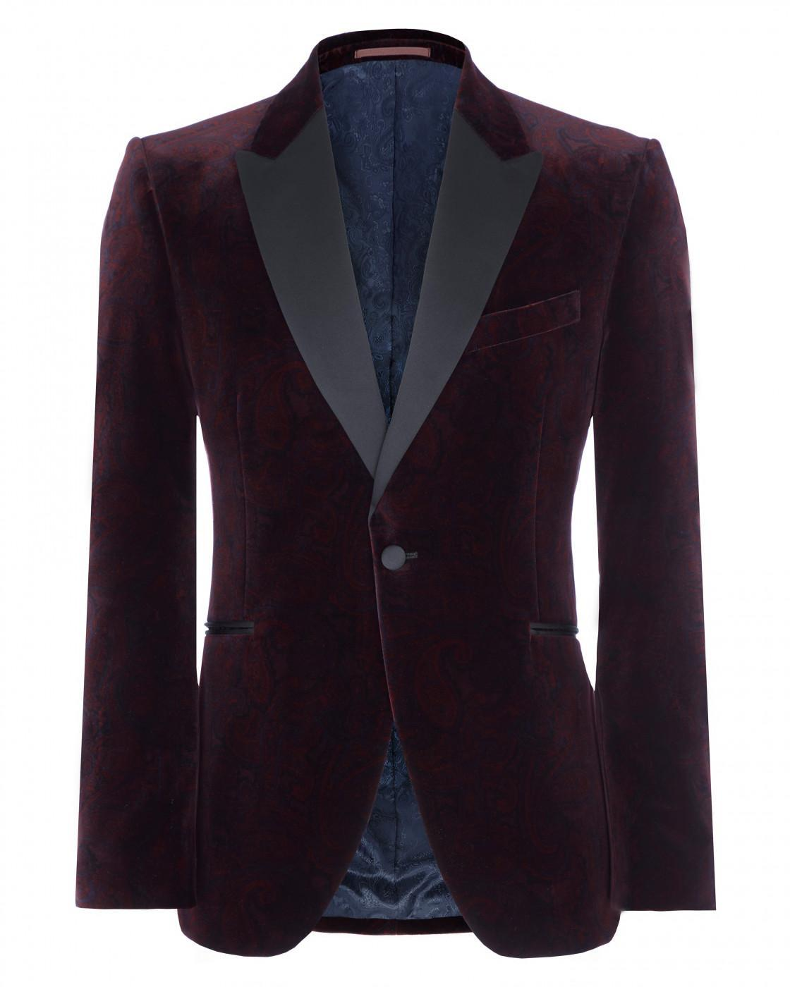 Regular Paisley Velvet Jacket By Jaeger Thread