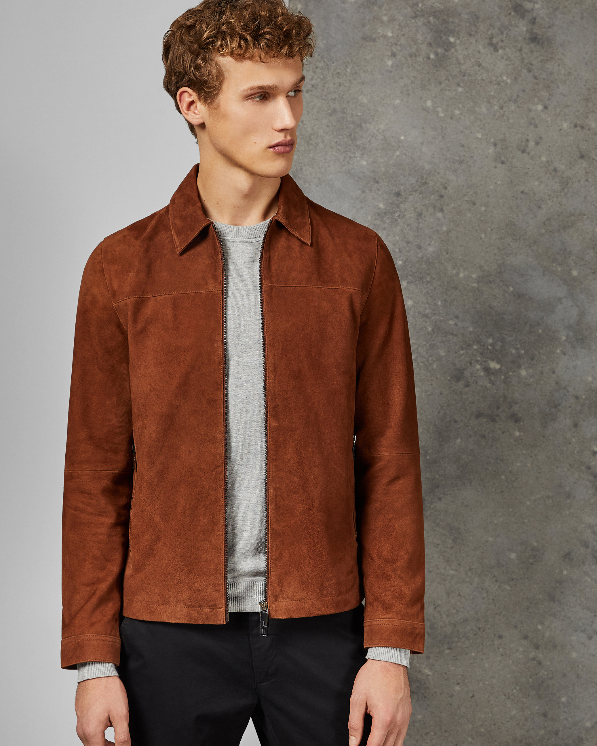 SALZA Suede zip through jacket by Ted