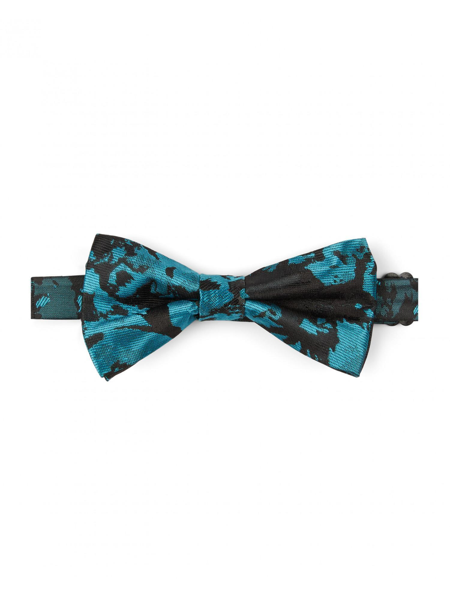 Teal Tonal Leaf Bow Tie By Austin Reed Thread Com