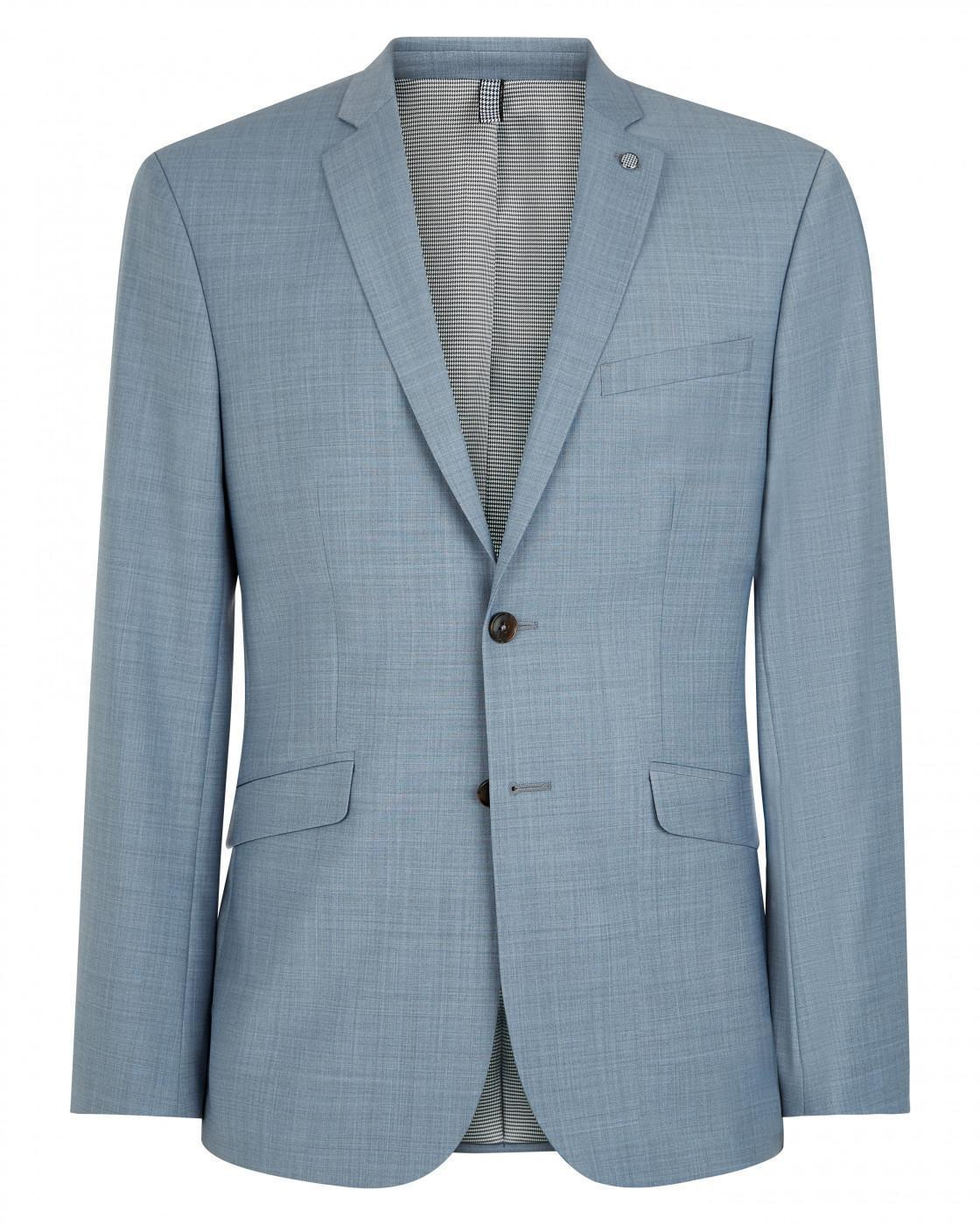 Slim Light Grey Melange Suit Jacket By Austin Reed Thread