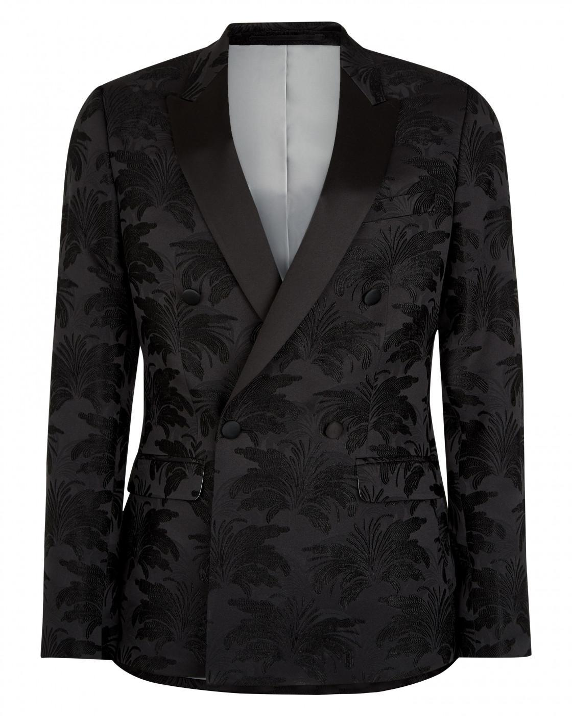 Skinny Floral Jacquard Suit Jacket By Austin Reed Thread