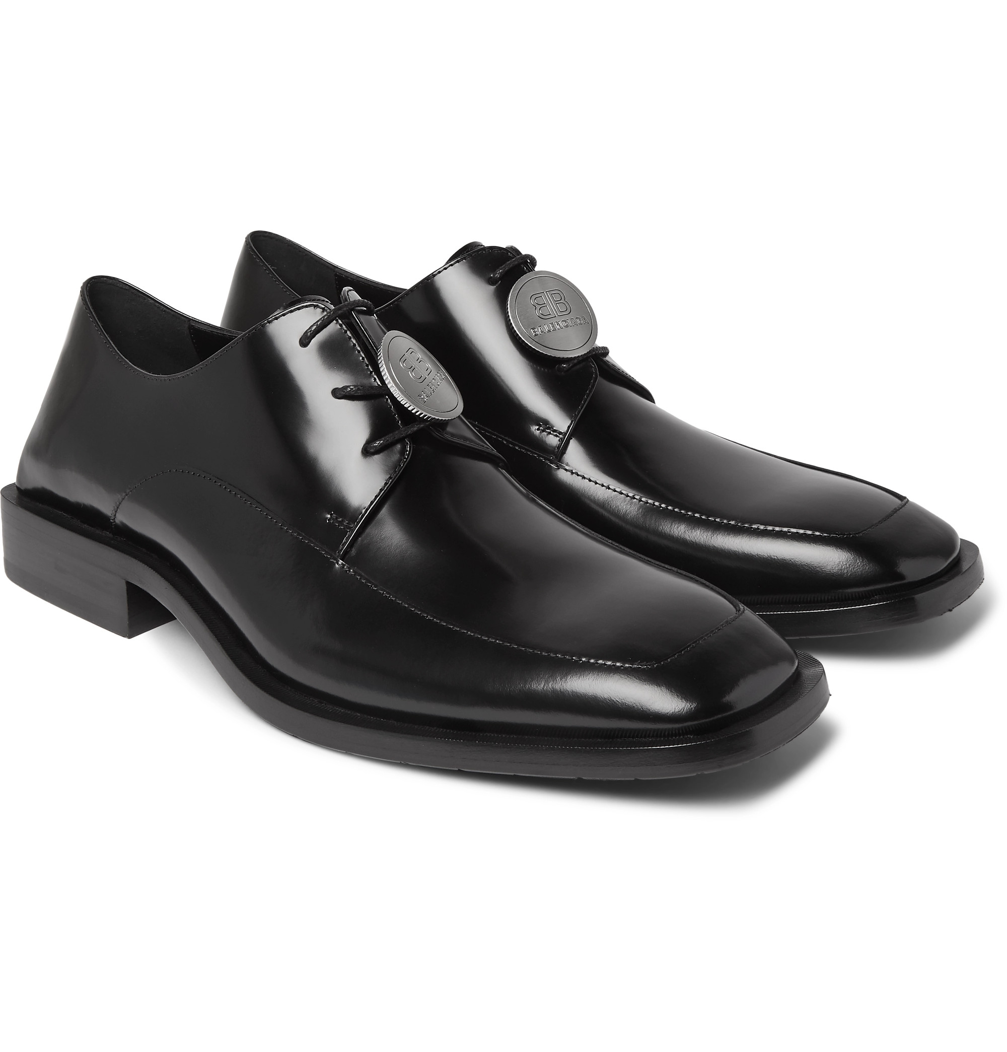 Detailed Patent-Leather Derby Shoes