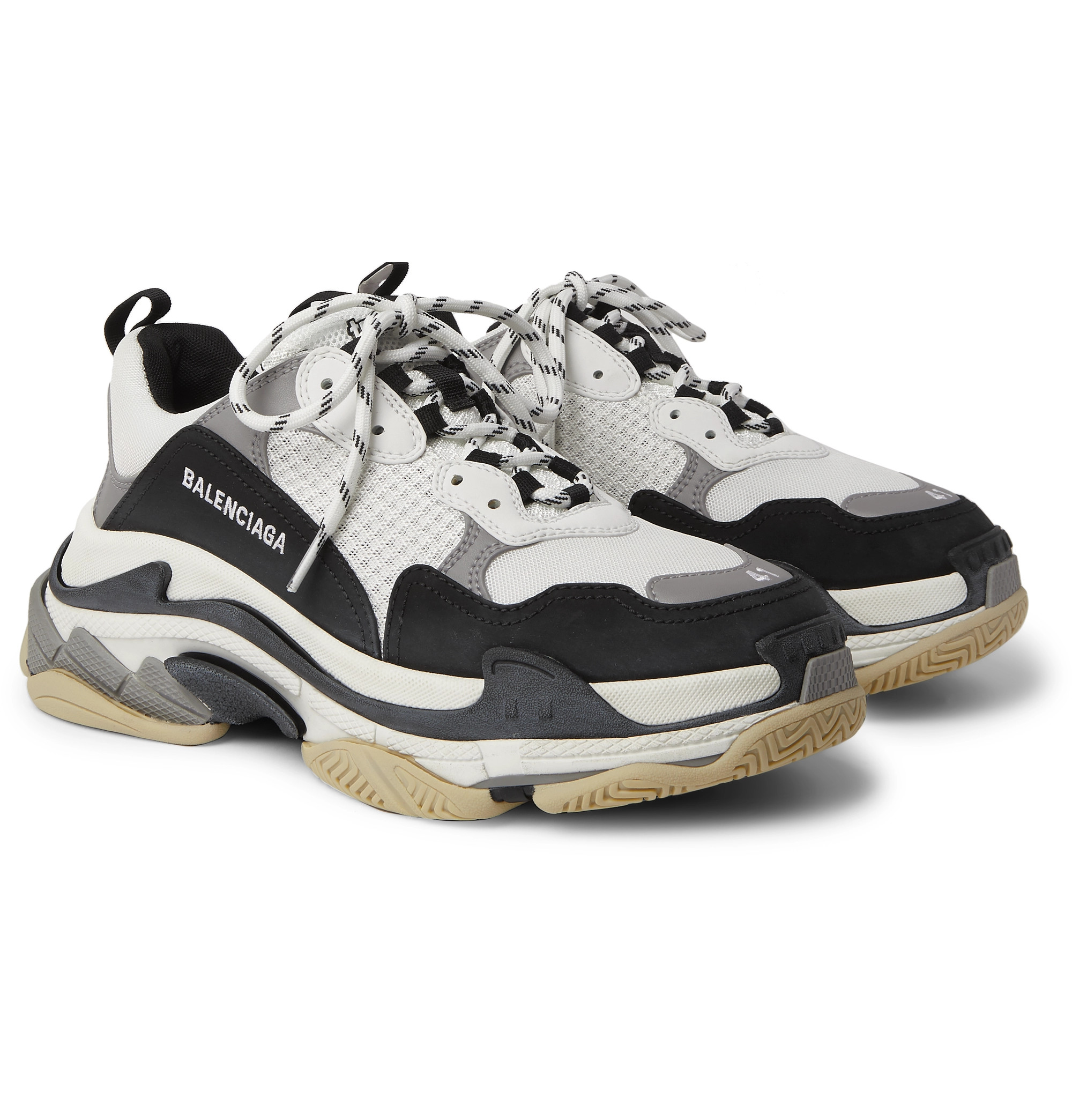 Triple S Mesh, Nubuck and Leather