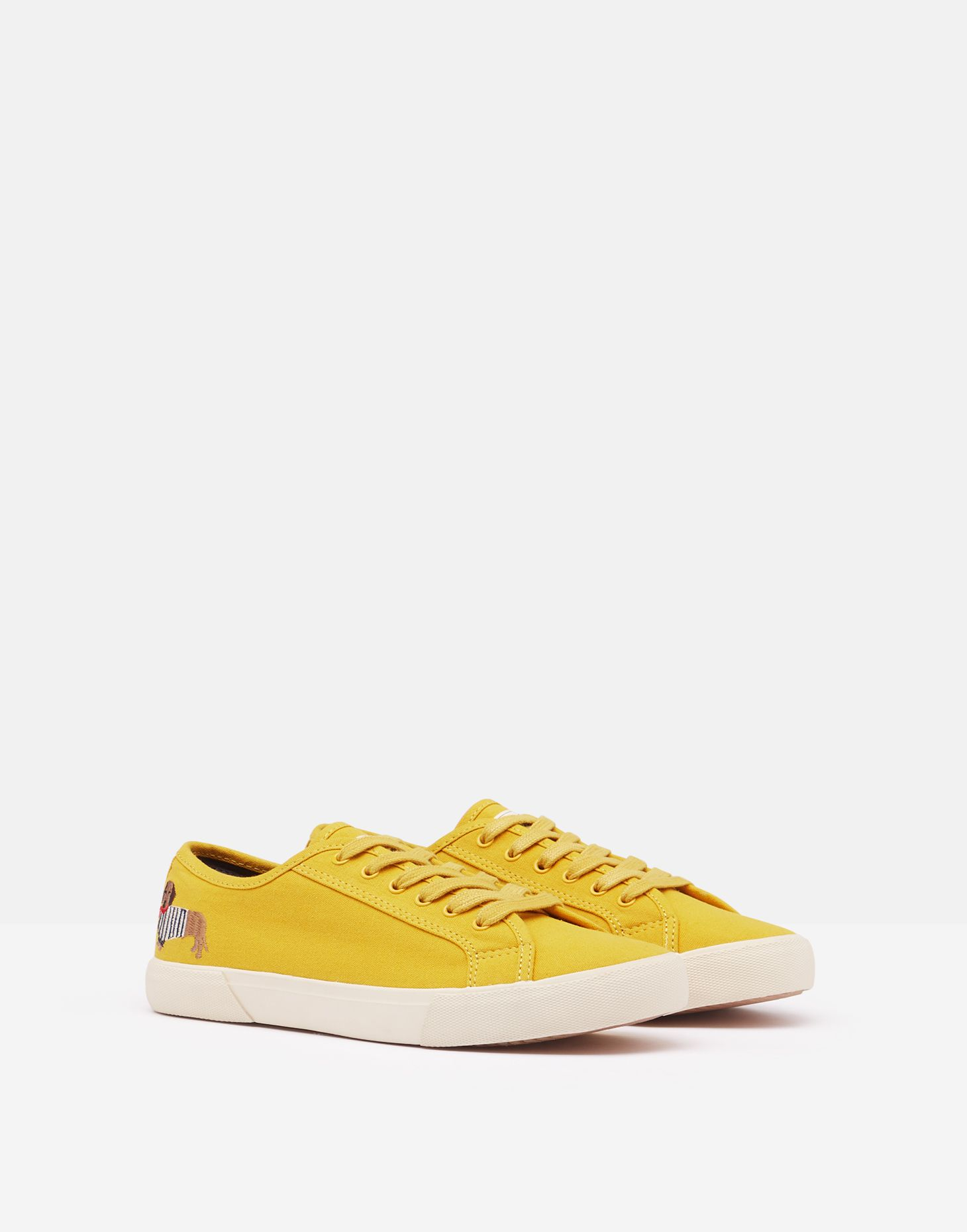 Coast Pump Canvas Trainers by Joules