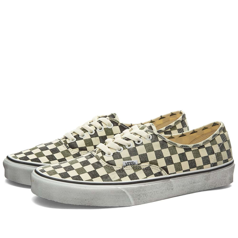 Authentic Washed Checkerboard by Vans