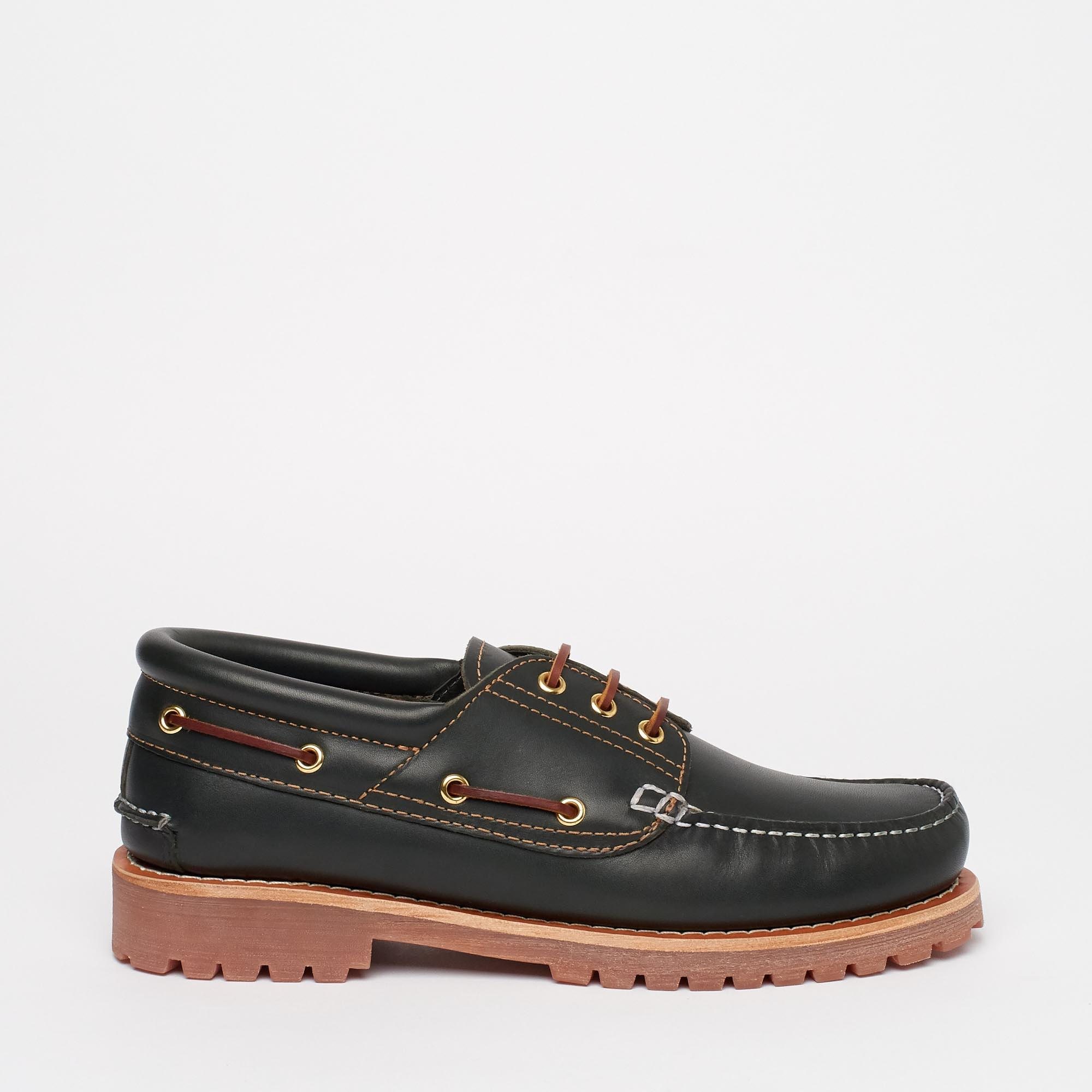 Navy Blue 'Samuel' Heavy Boat Shoes by