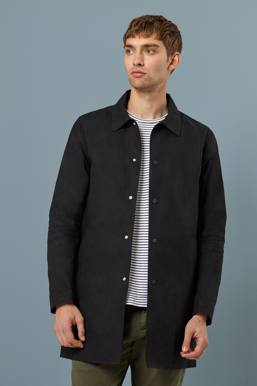 Wax London Navarino Waxed Mac Black