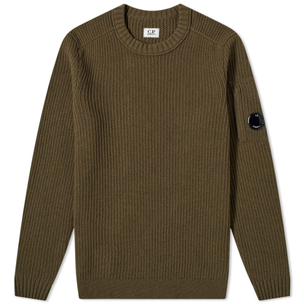 Arm Lens Crew Knit by C.P. COMPANY