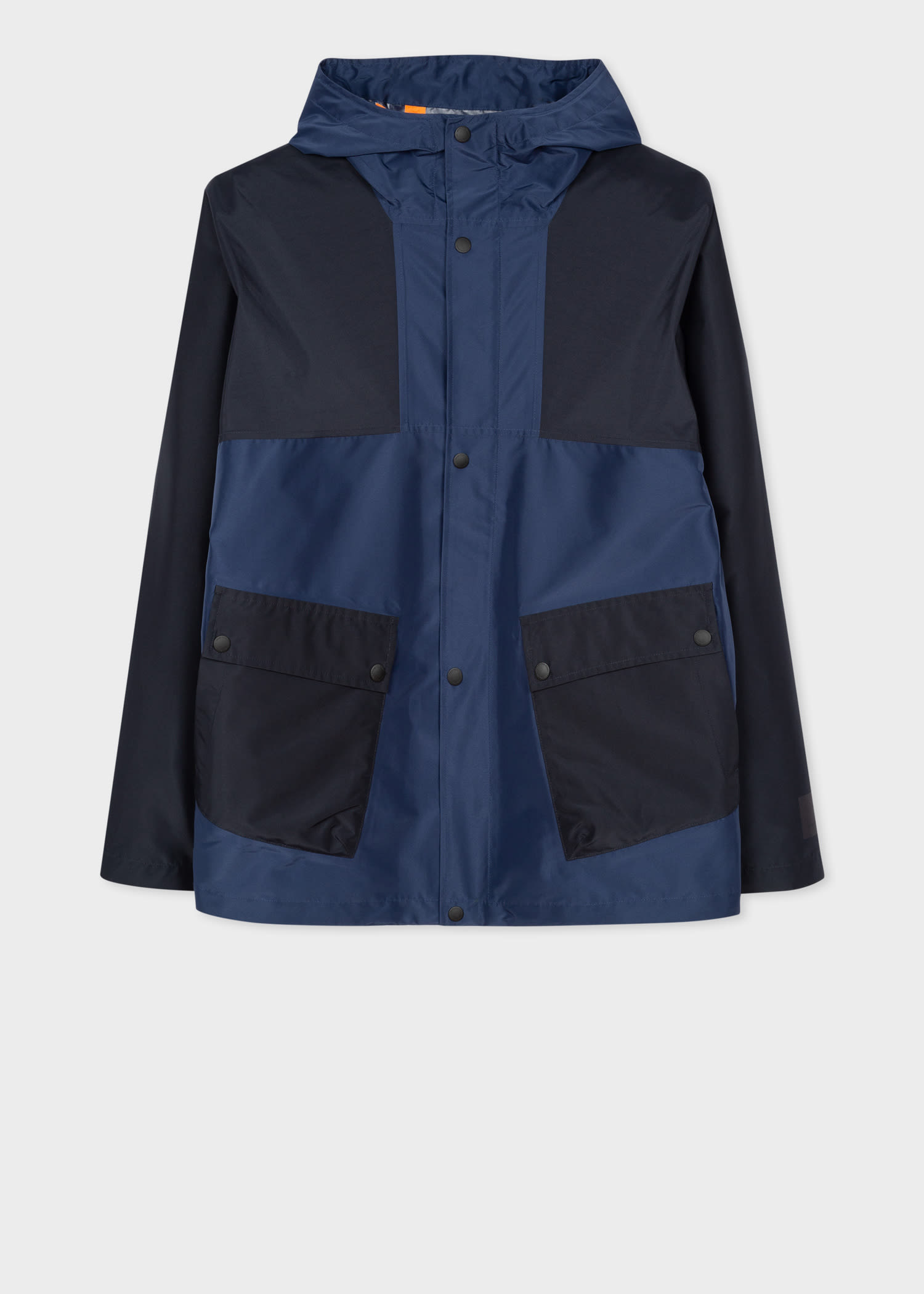 Men S Navy Recycled Polyester Waterproof Jacket By Ps Paul Smith Thread Com