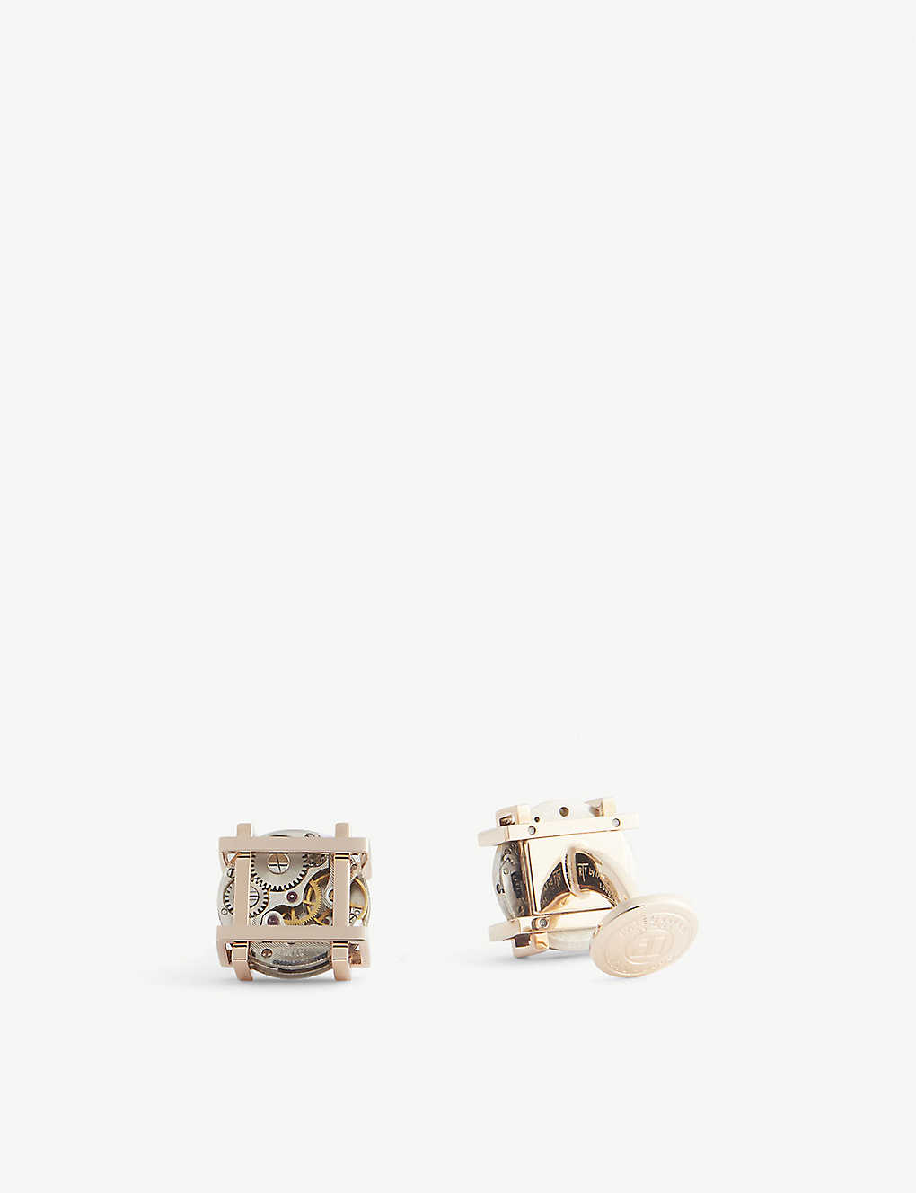 Gold Plated Sterling Silver Square Cufflinks