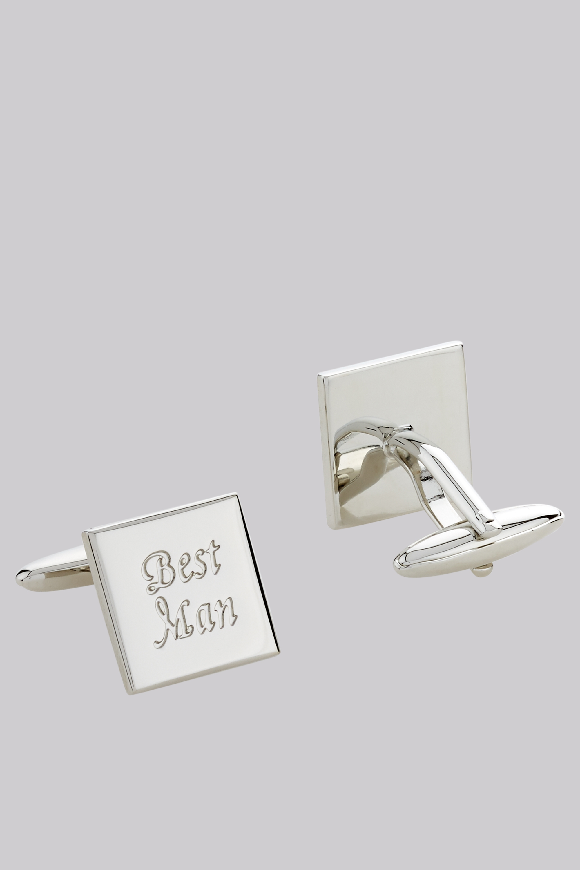 Moss 1851 Silver Best Man Cufflinks By Moss Bros Thread