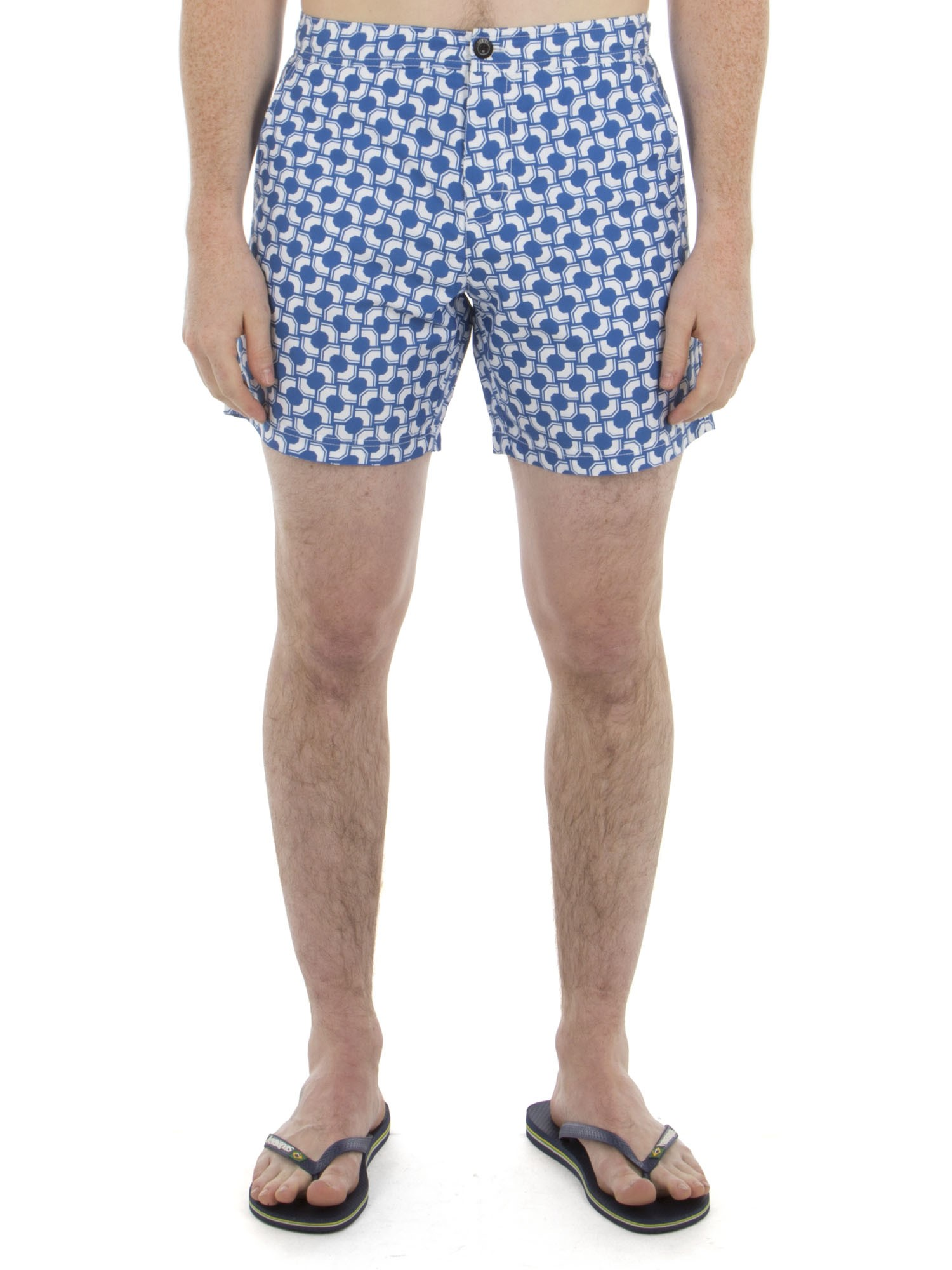 Ben Sherman Summer Sky Optical Mod Stripe Effect Print Swim Shorts