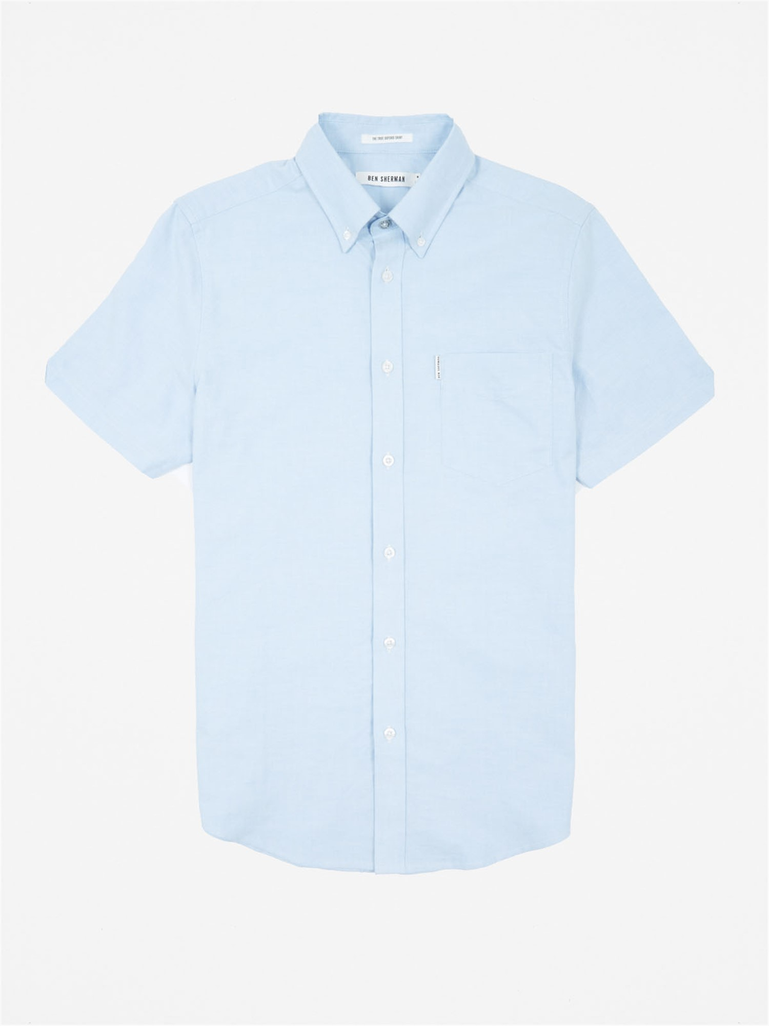 Ben Sherman Dusk Blue Classic Oxford Short Sleeve Shirt Regular Fit (Mod Fit)