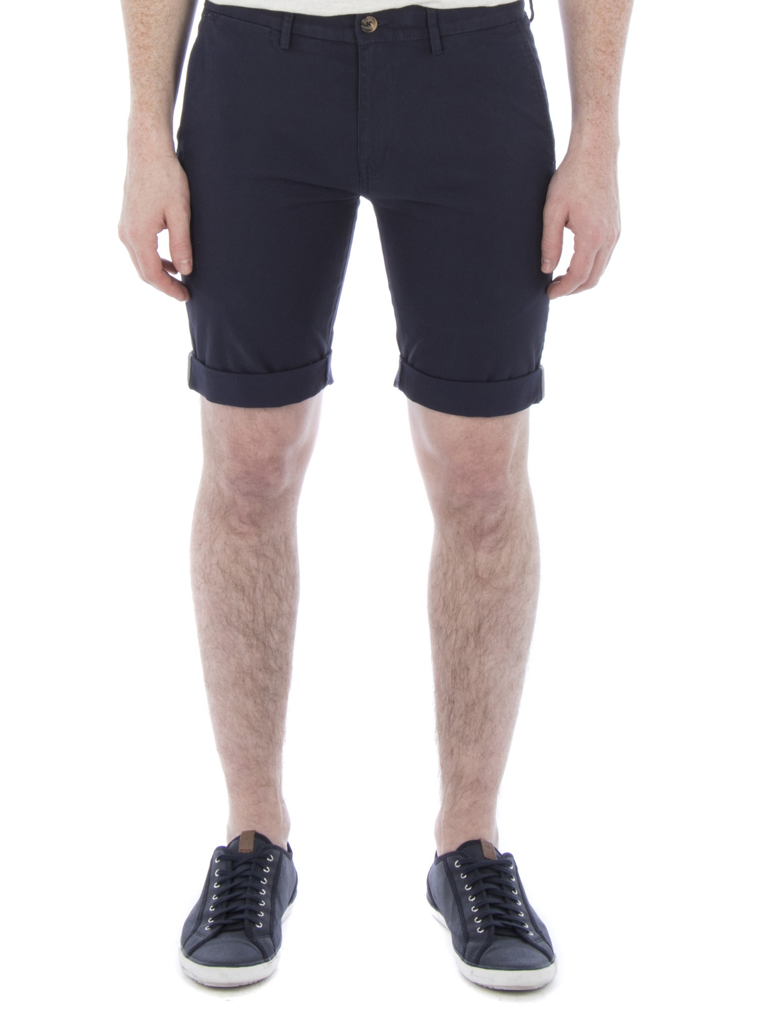 Ben Sherman Navy Stretch Slim Chino Short Slim Fit (Camden Fit)