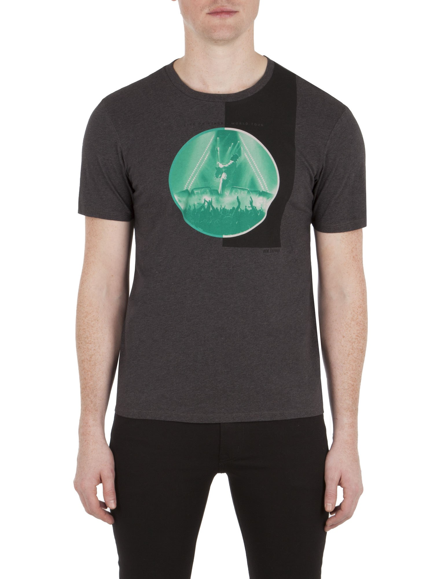 Ben Sherman Chimney Live On Stage T-Shirt Regular Fit (Mod Fit)