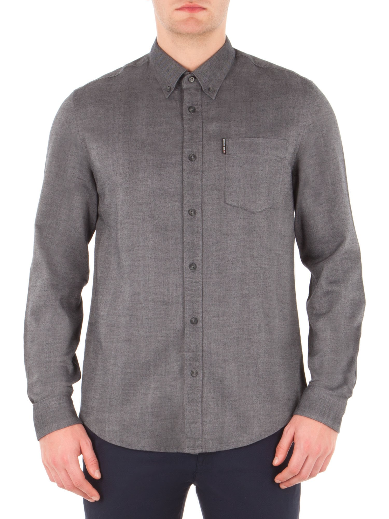 Ben Sherman Chimney Long Sleeve Brushed Plain Shirt