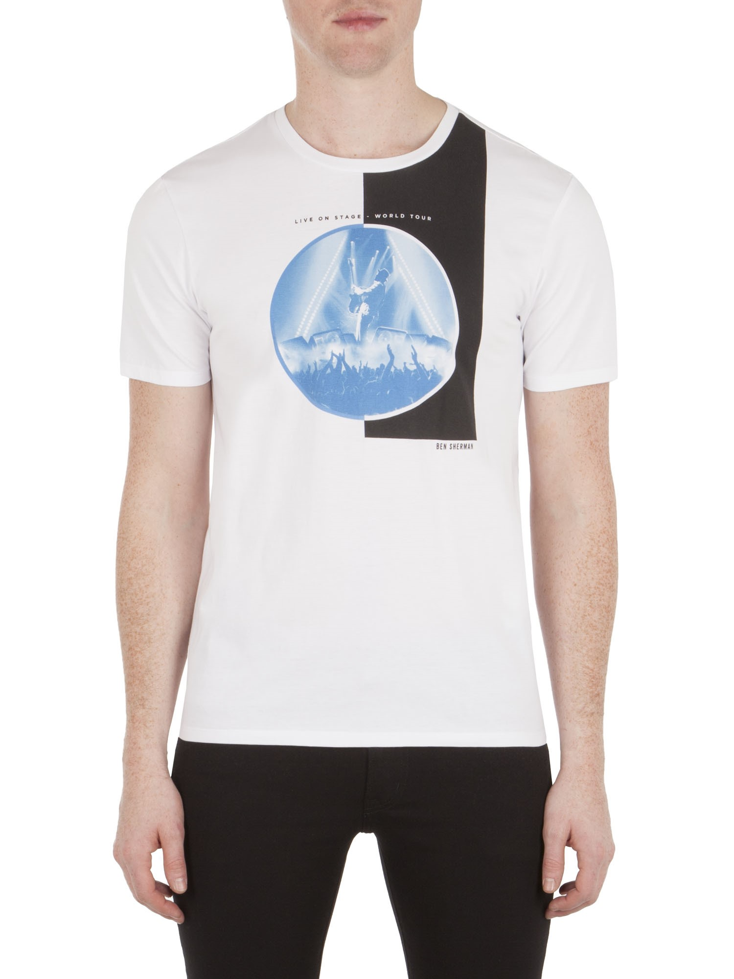 Ben Sherman Bright White Live On Stage T-Shirt