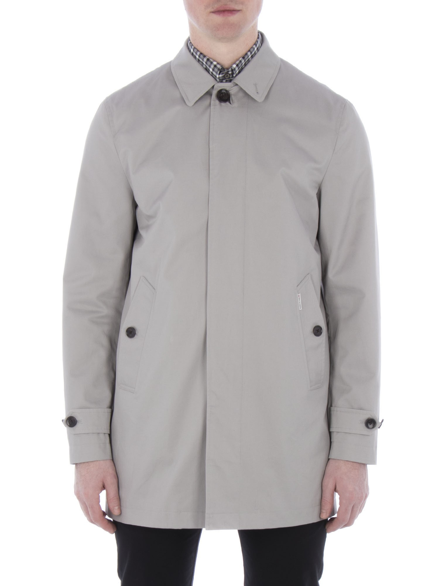Ben Sherman Light Ash New Cotton Mac