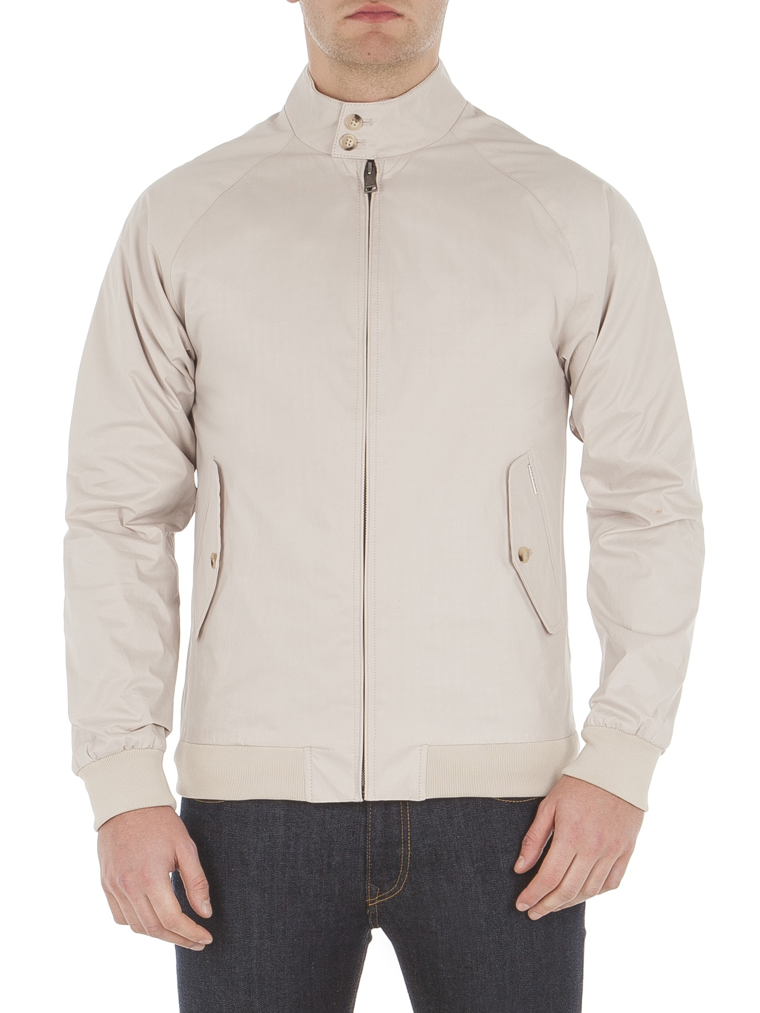 Ben Sherman Sand Stone Cotton Harrington Jacket