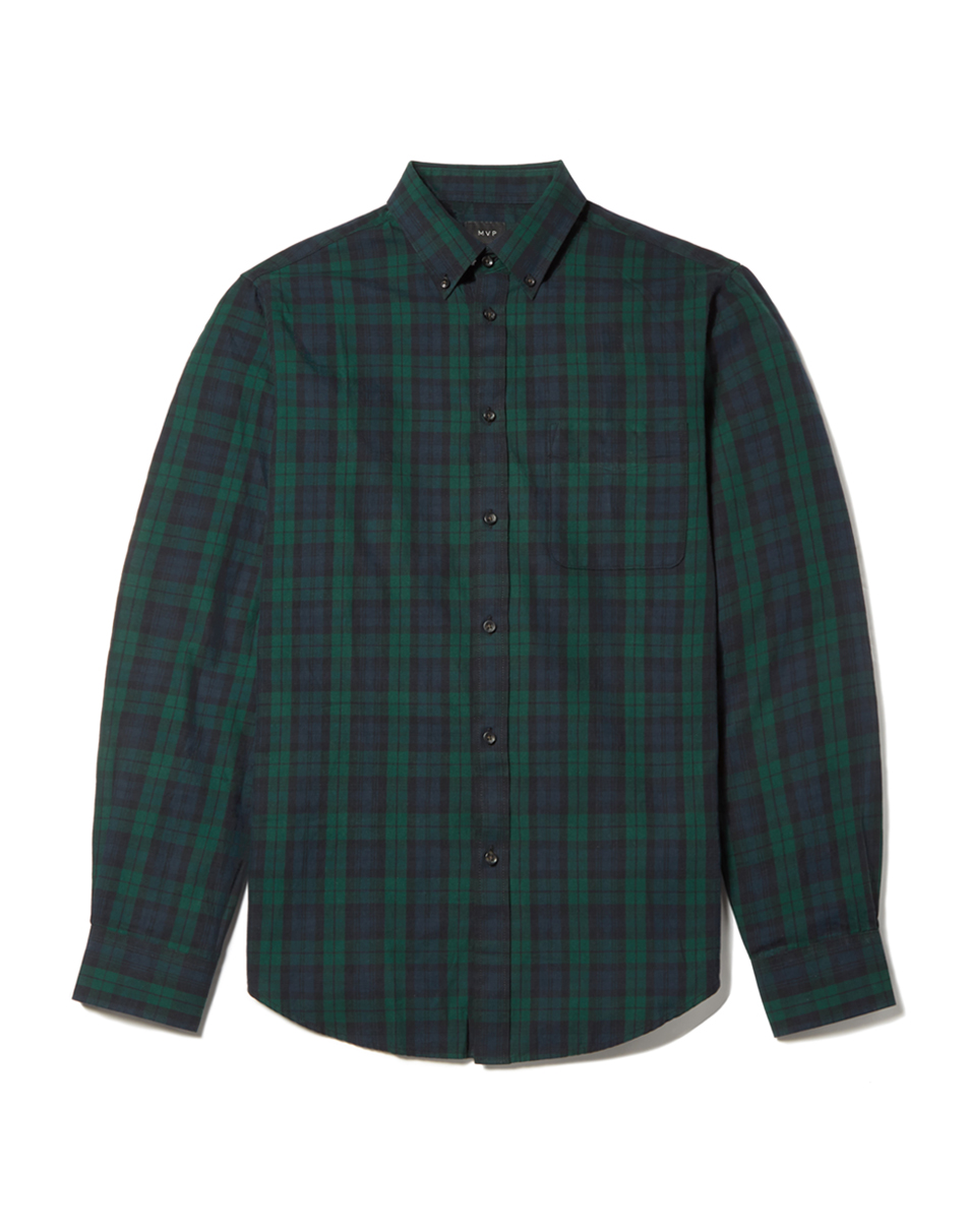 MVP Navy Check Bowerman Check Shirt