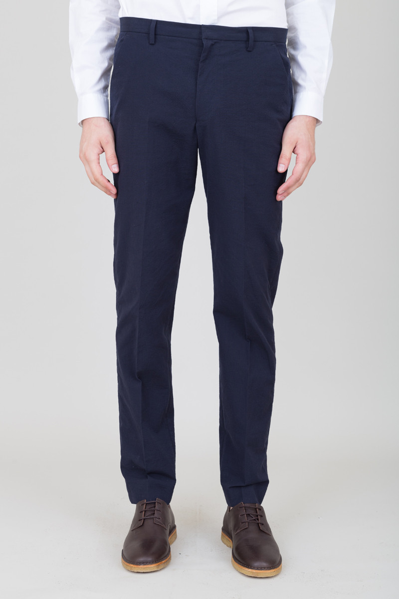 Folk Counter Trousers - Navy Texture