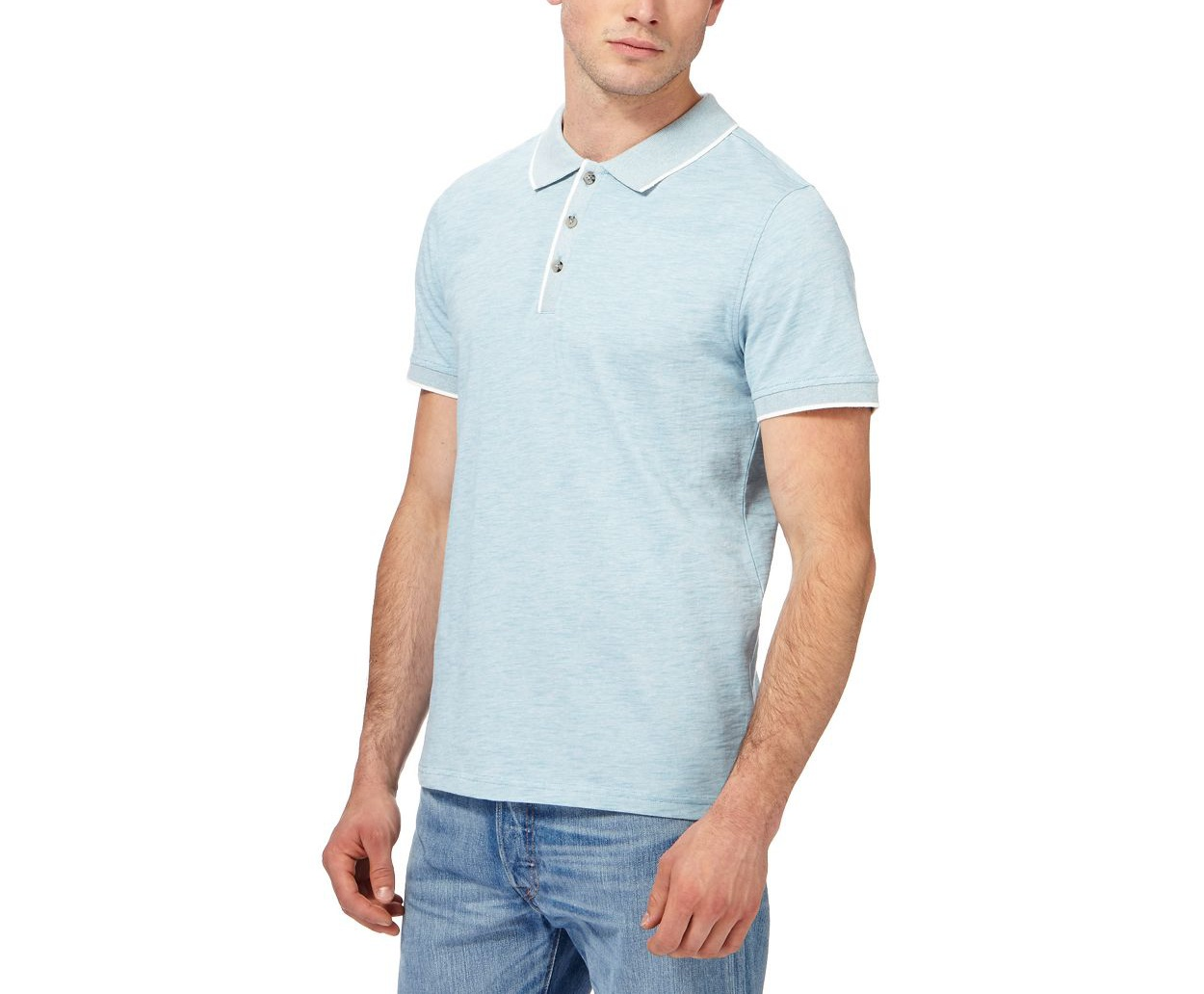 Red Herring Turquoise tipped polo shirt