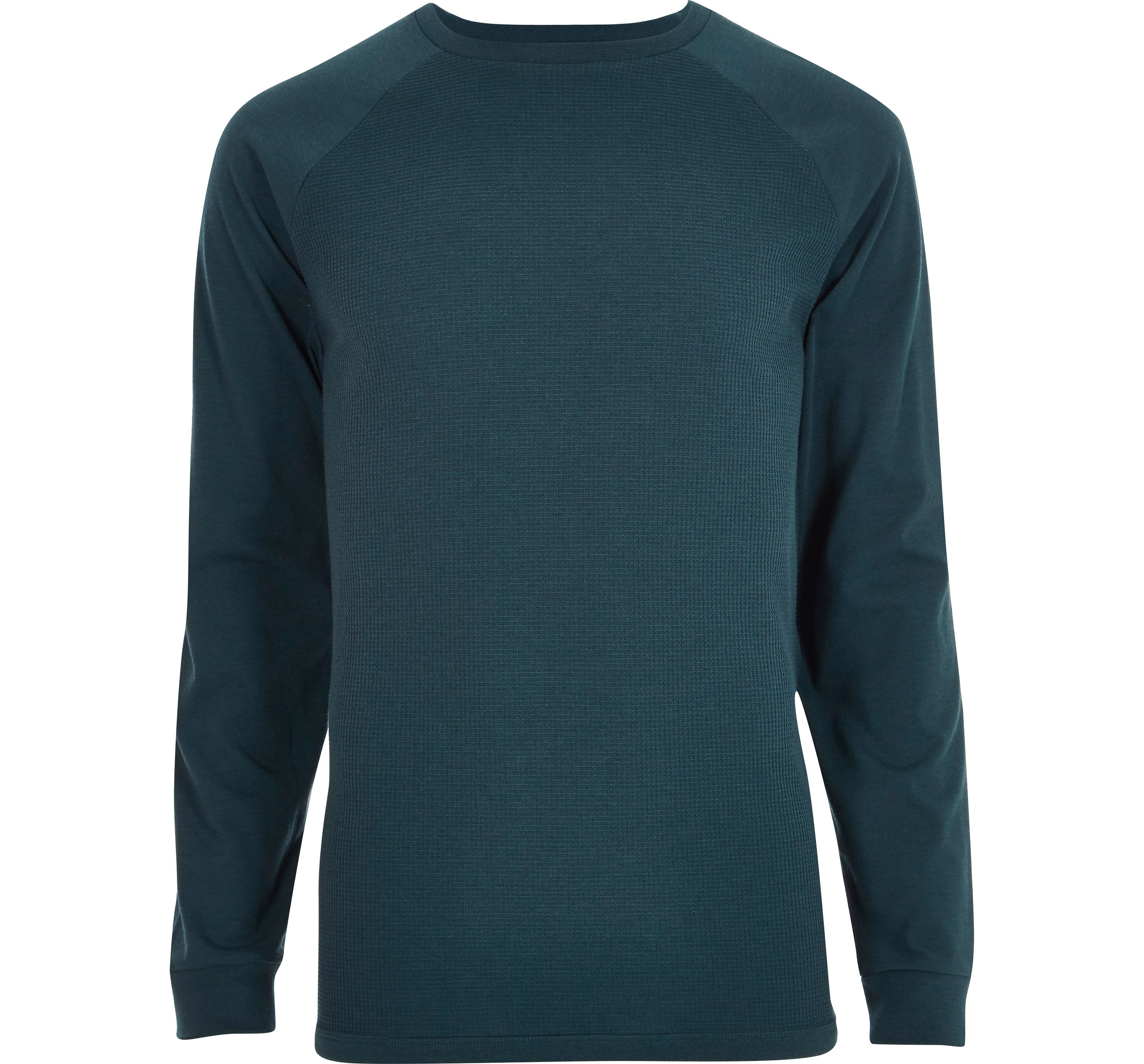 River Island Mens Blue raglan sleeve slim fit T-shirt