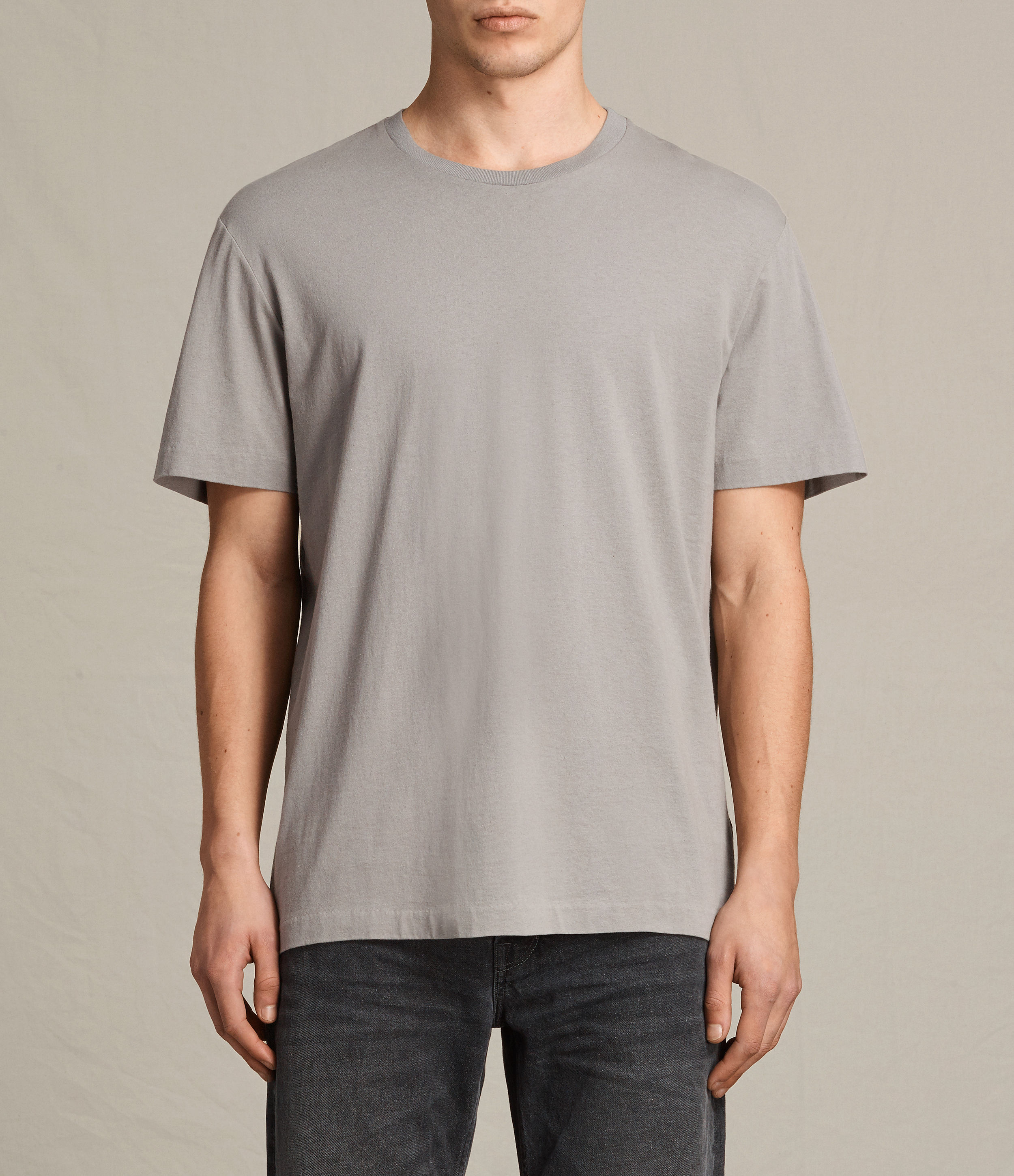AllSaints Putty Brown Mayther Crew T-Shirt