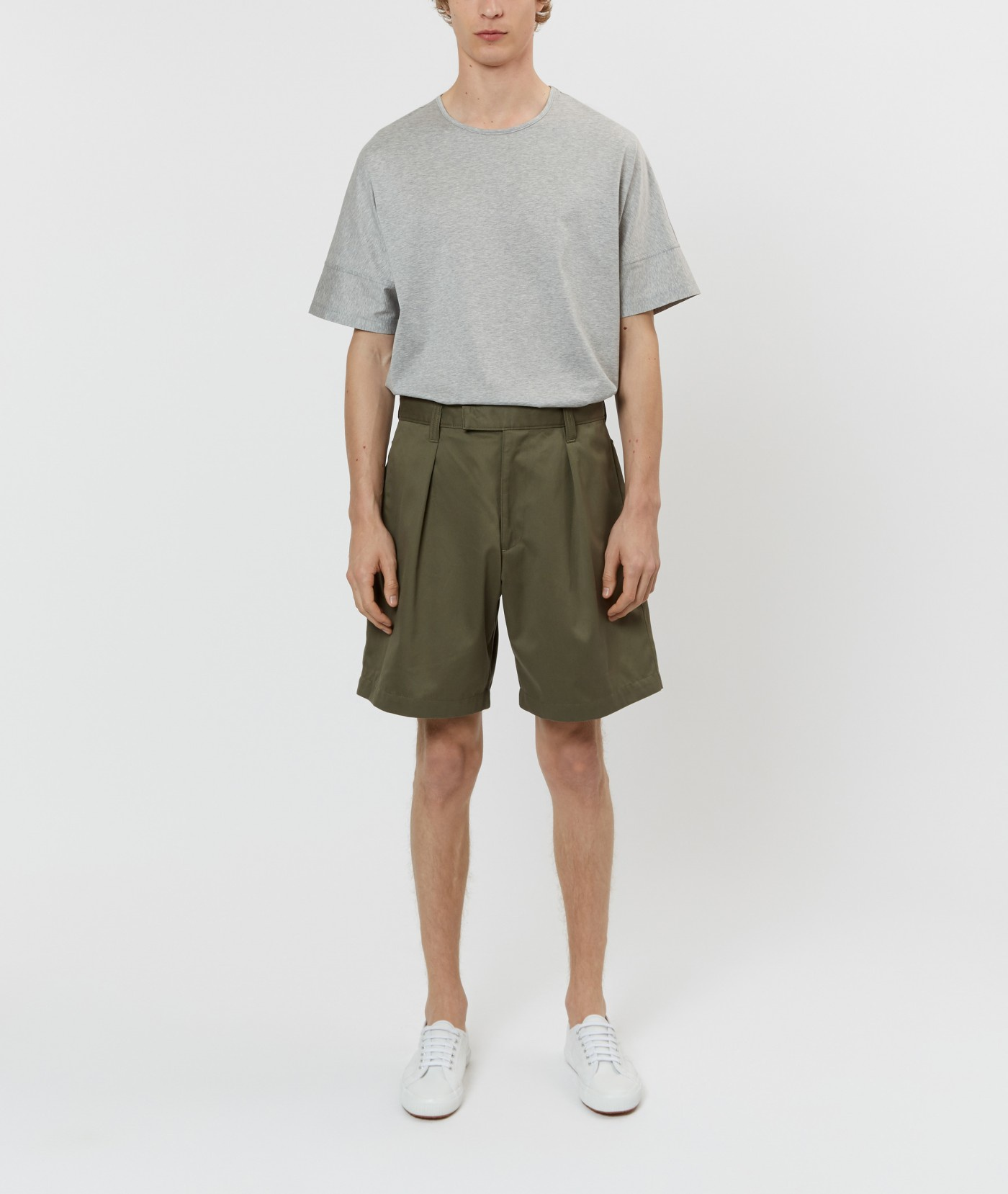 E. Tautz Army Green Naval Short