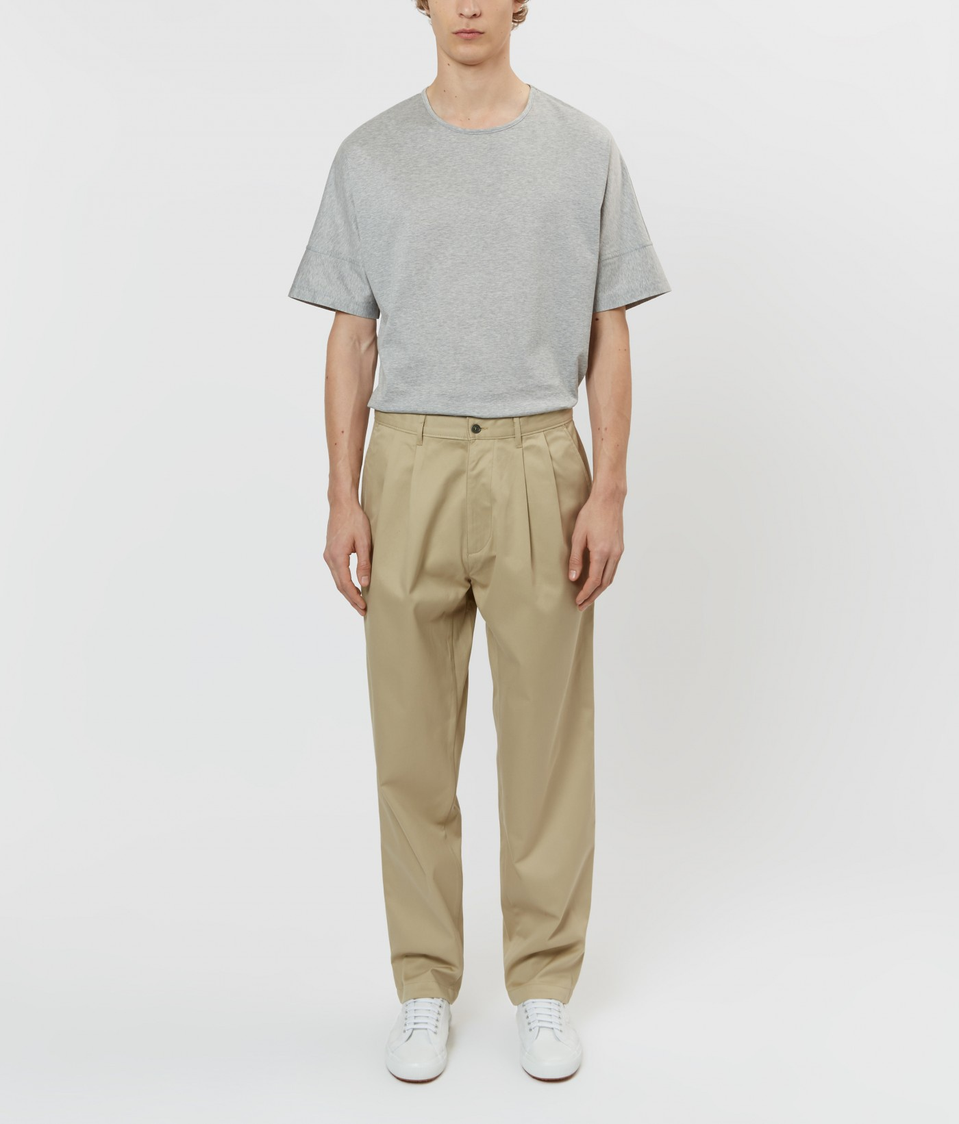 E. Tautz Khaki Pleated Chino