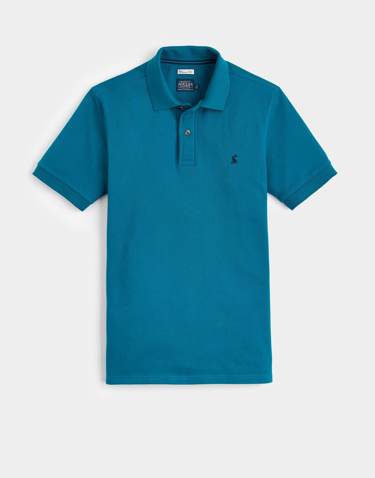 Joules Teal WOODY CLASSIC Fit Polo Shirt