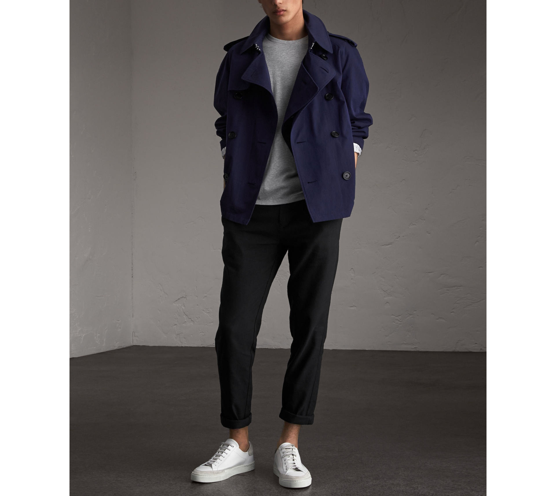 Burberry Blueberry Unisex Tropical Gabardine Trench Jacket